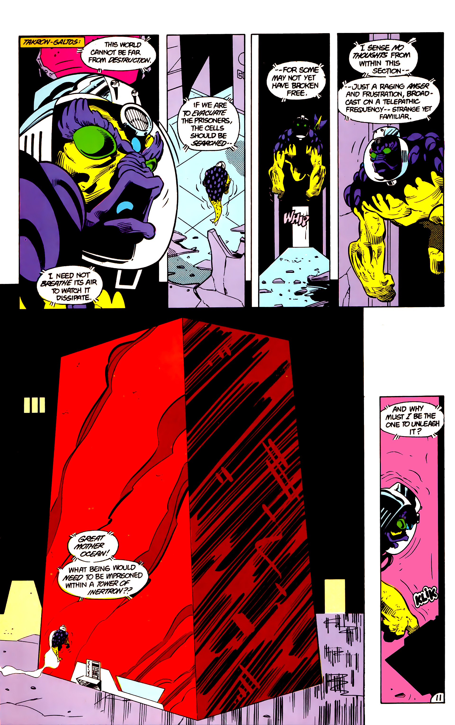 Legion of Super-Heroes (1984) 18 Page 11