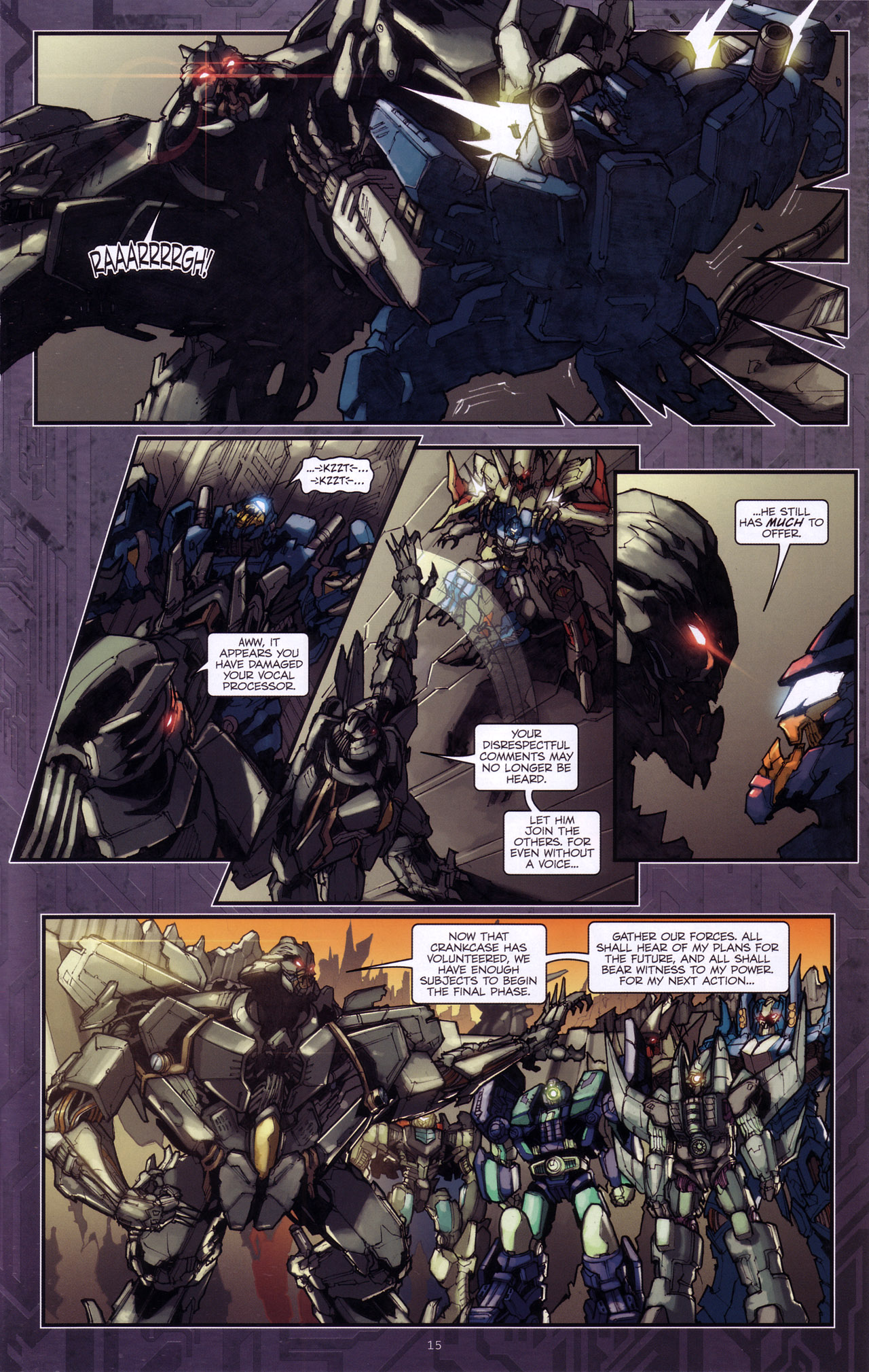 Read online Transformers: The Reign of Starscream comic -  Issue #4 - 17
