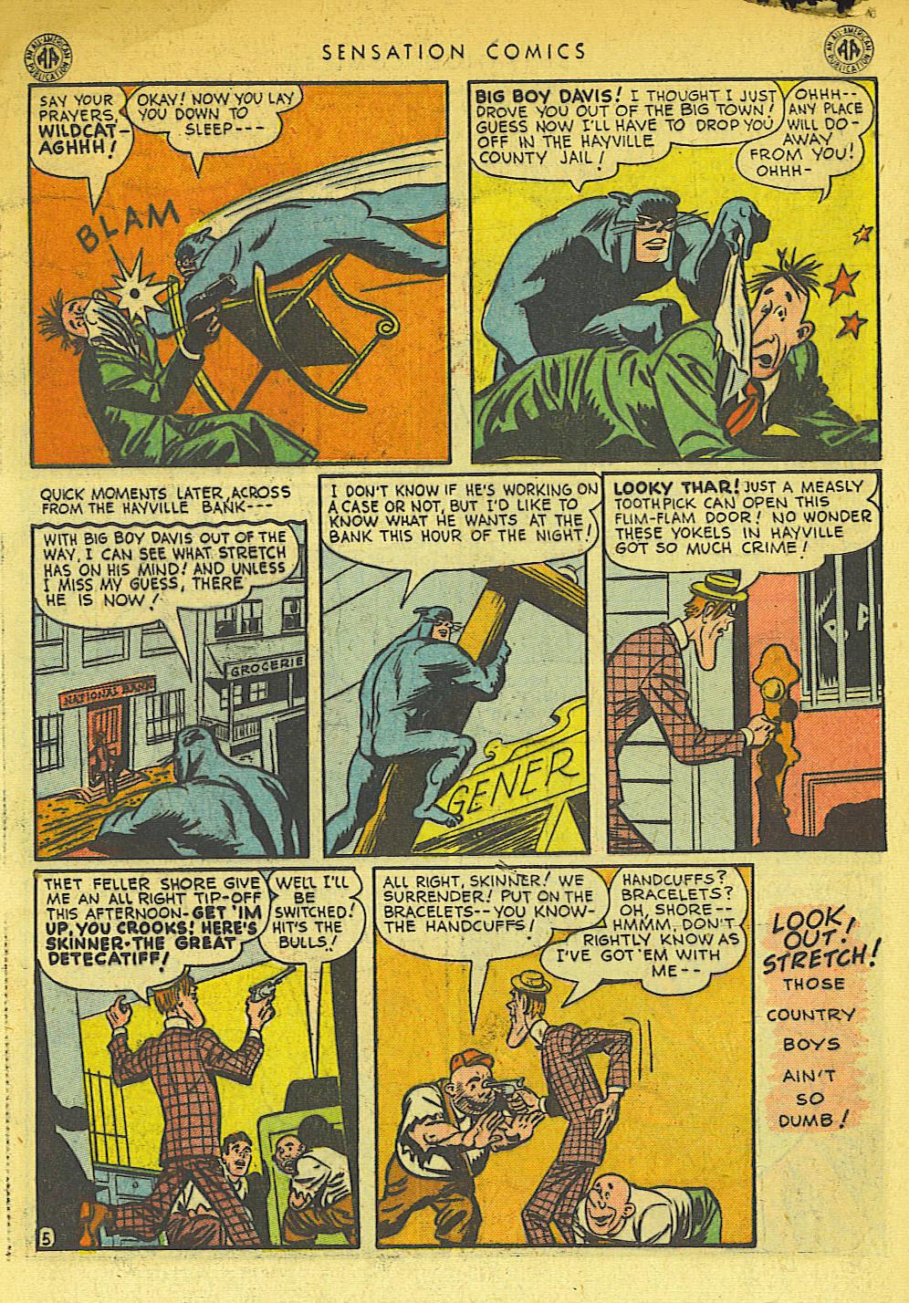 Read online Sensation (Mystery) Comics comic -  Issue #42 - 46