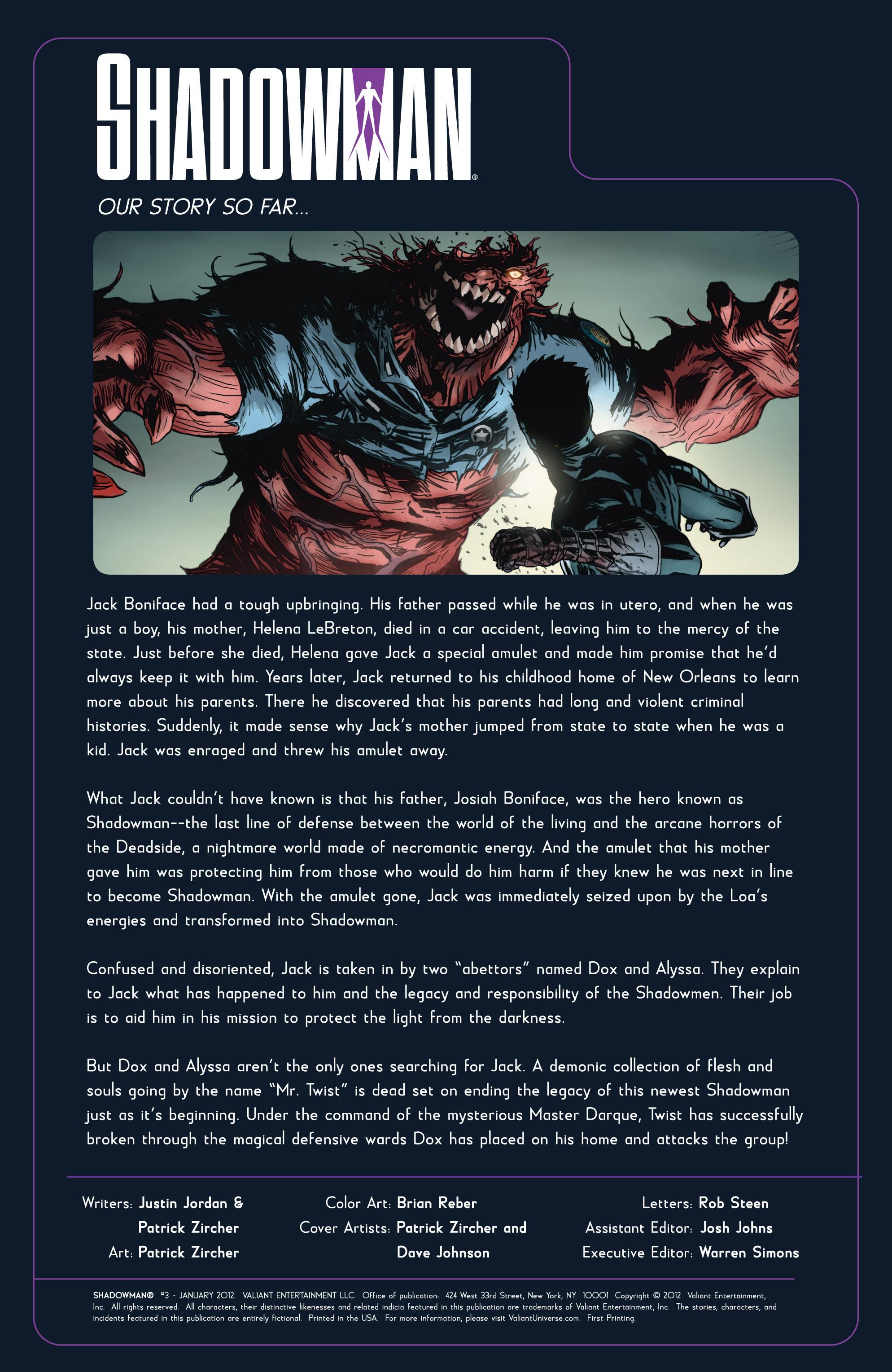 Read online Shadowman (2012) comic -  Issue #3 - 2