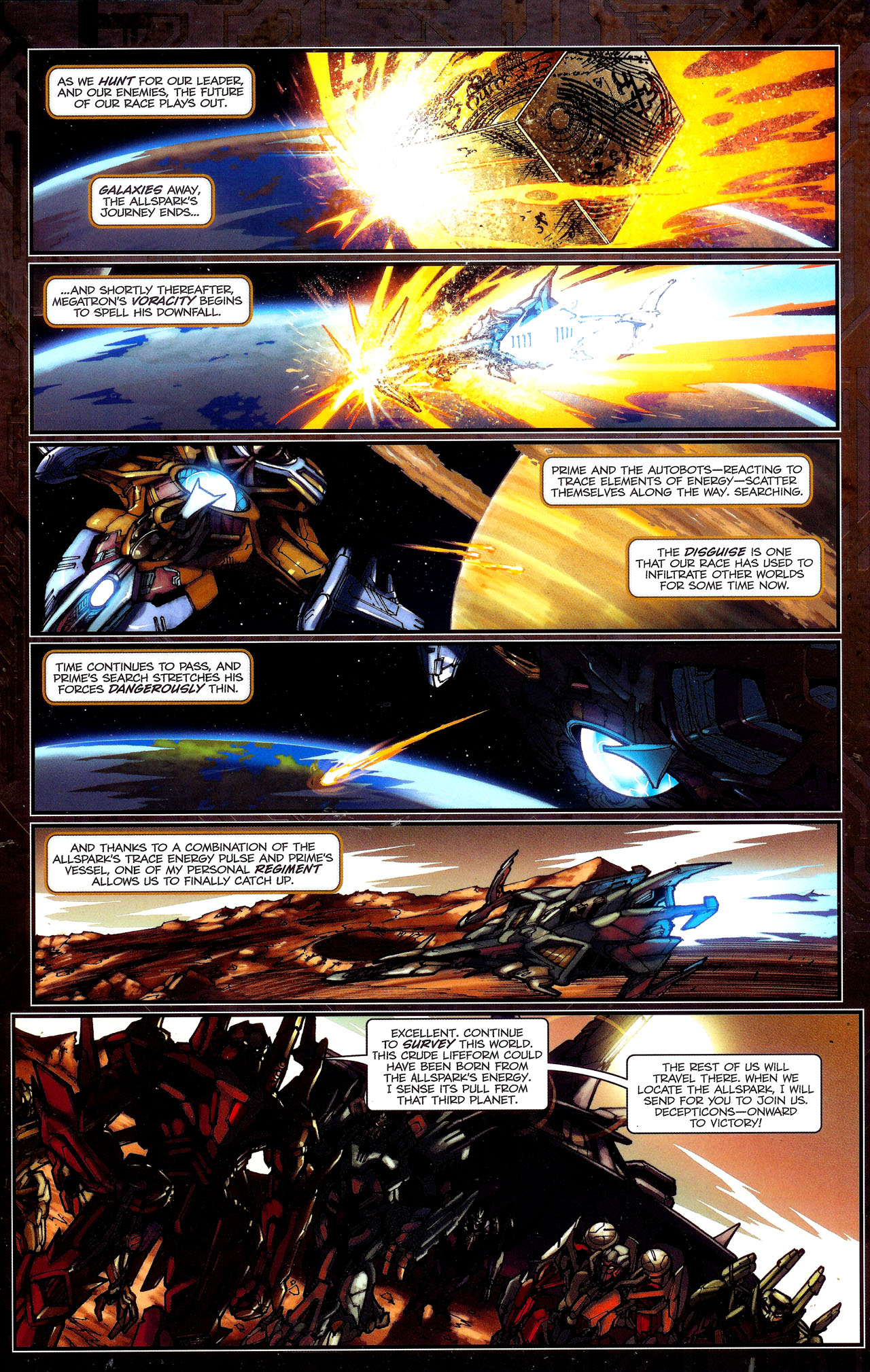 Read online Transformers: The Reign of Starscream comic -  Issue #1 - 12
