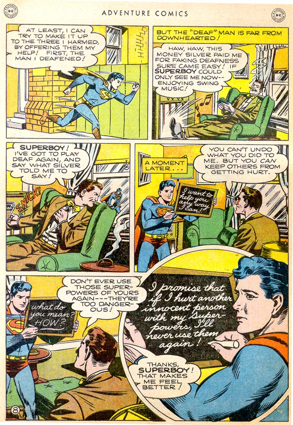 Read online Adventure Comics (1938) comic -  Issue #144 - 9
