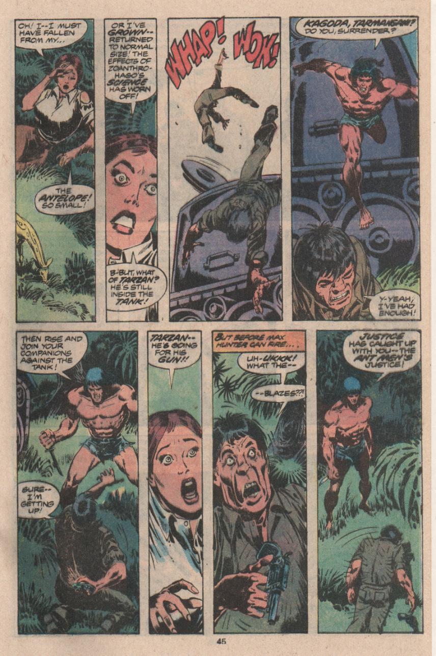 Read online Tarzan (1977) comic -  Issue # _Annual 3 - 34