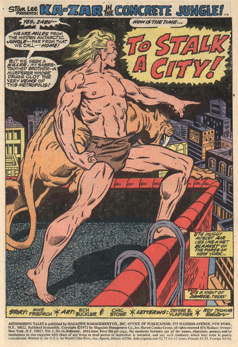 Read online Astonishing Tales (1970) comic -  Issue #16 - 2