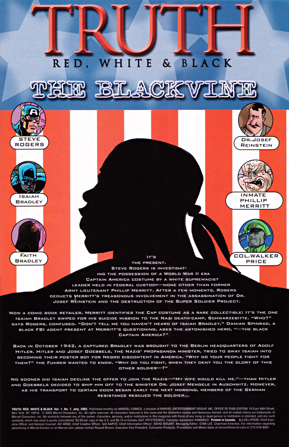 Read online Truth: Red, White & Black comic -  Issue #7 - 2