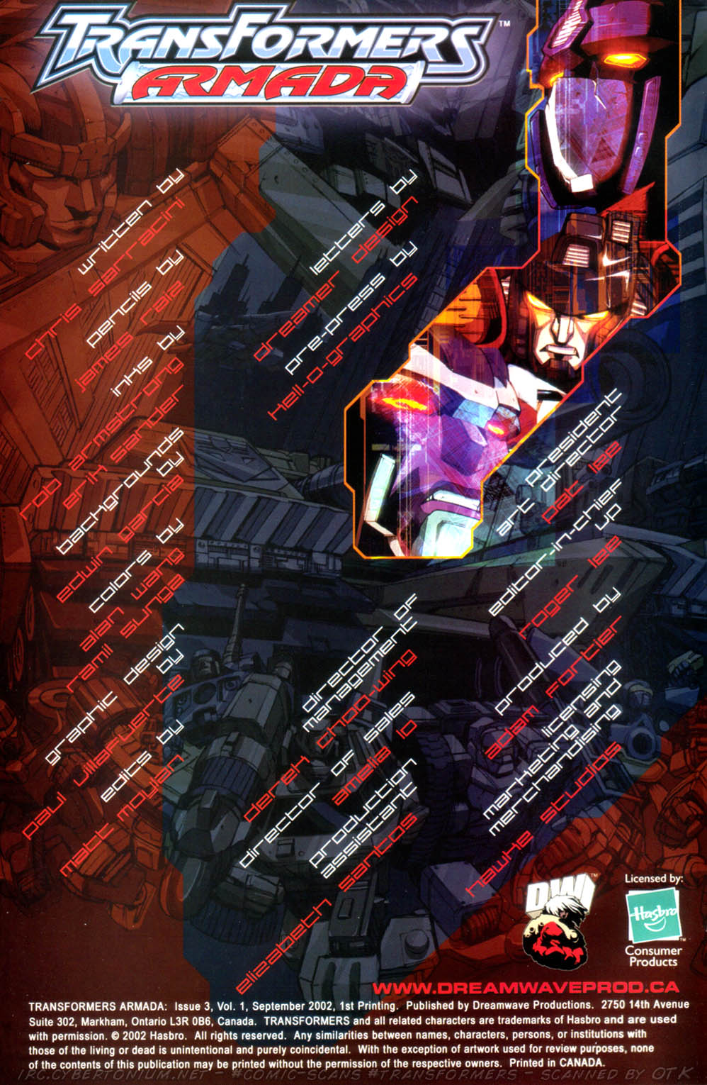 Read online Transformers Armada comic -  Issue #3 - 2