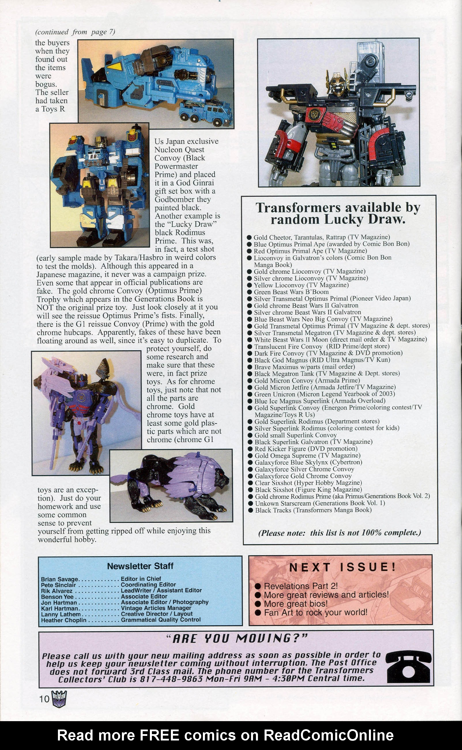 Read online Transformers: Collectors' Club comic -  Issue #7 - 10