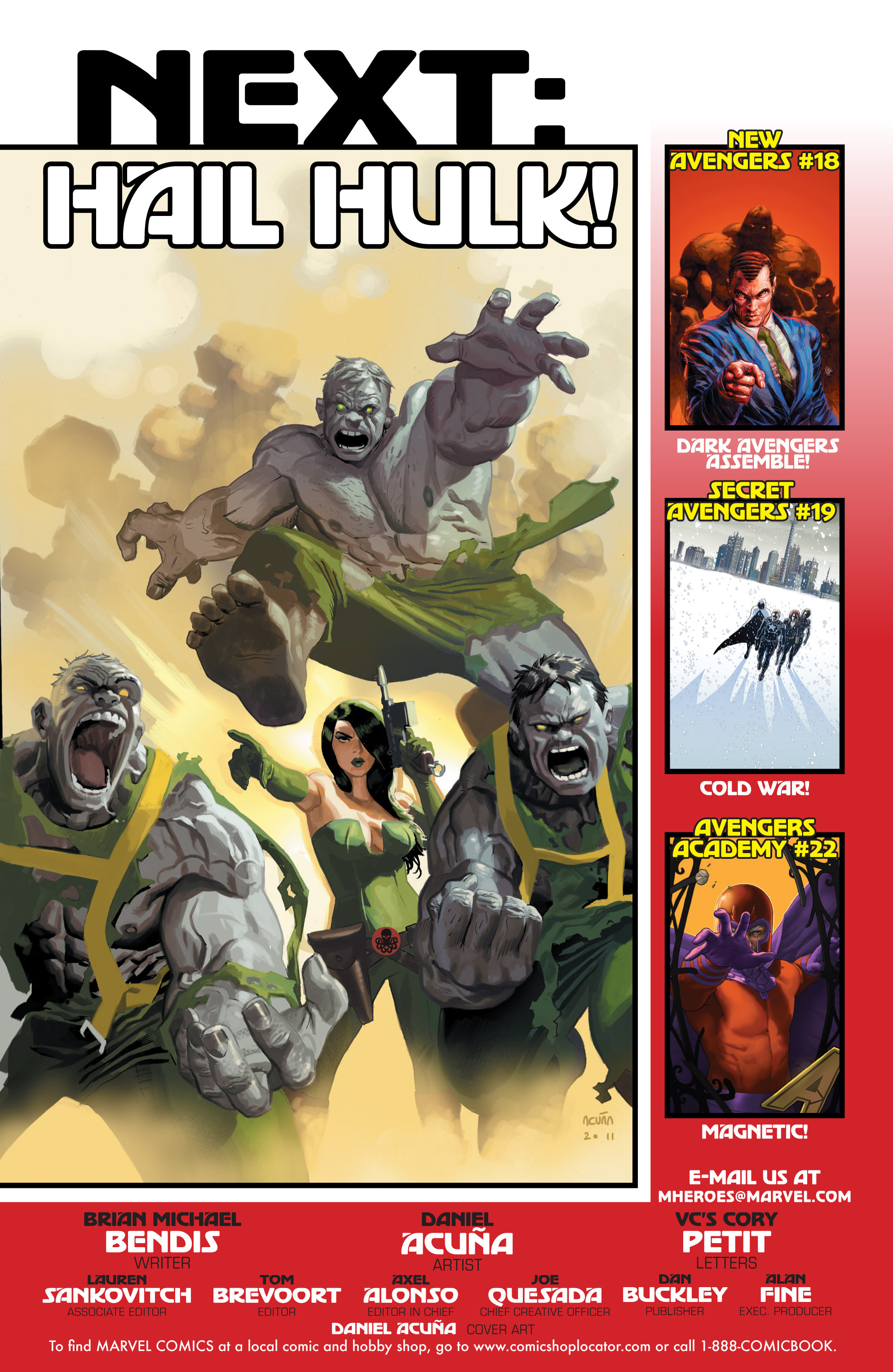 Read online Avengers (2010) comic -  Issue #19 - 21
