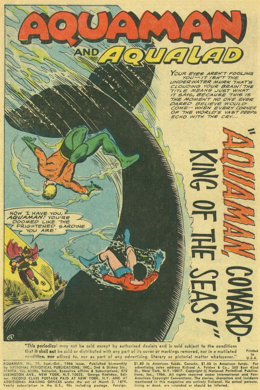 Read online Aquaman (1962) comic -  Issue #29 - 3