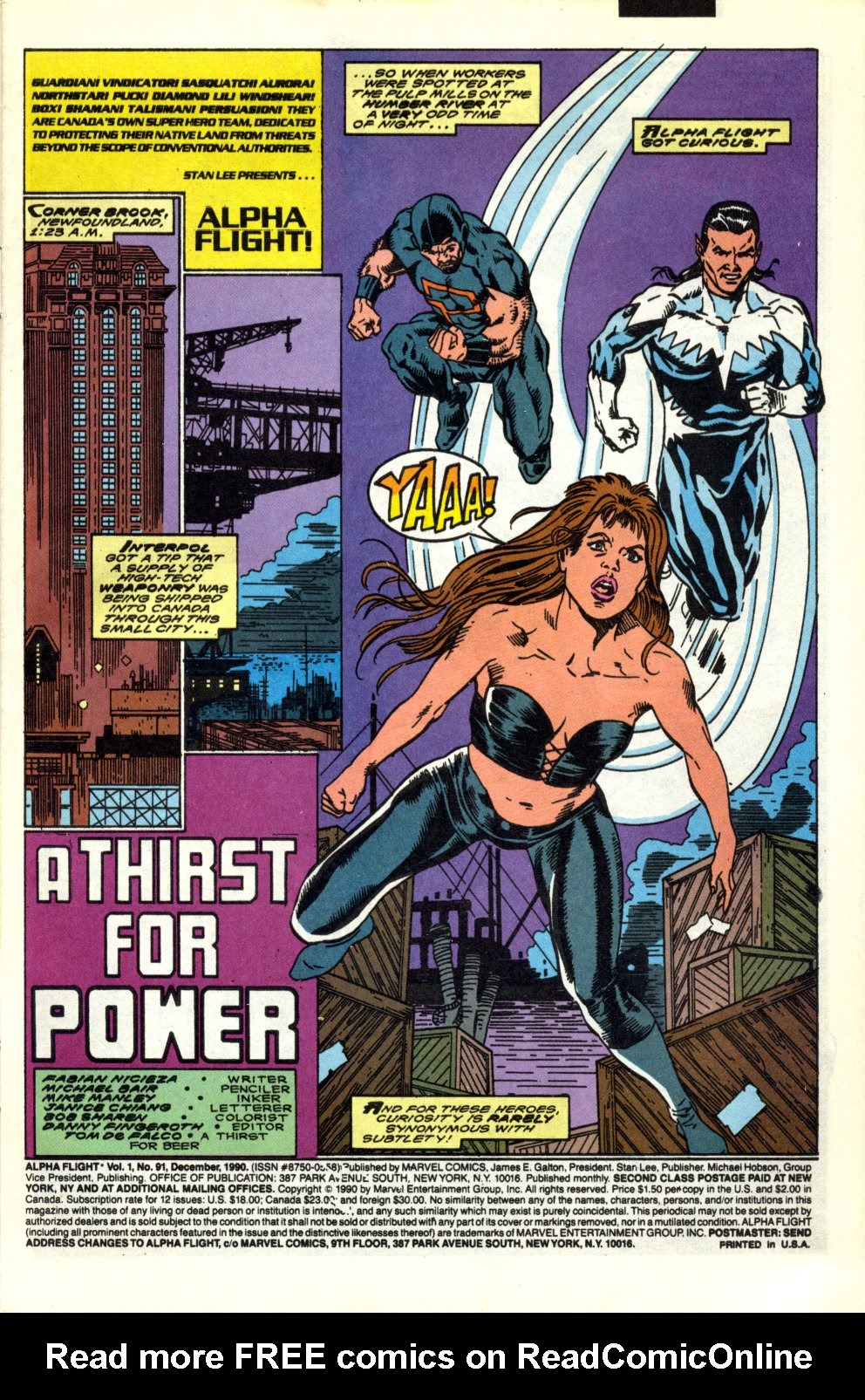 Read online Alpha Flight (1983) comic -  Issue #91 - 2