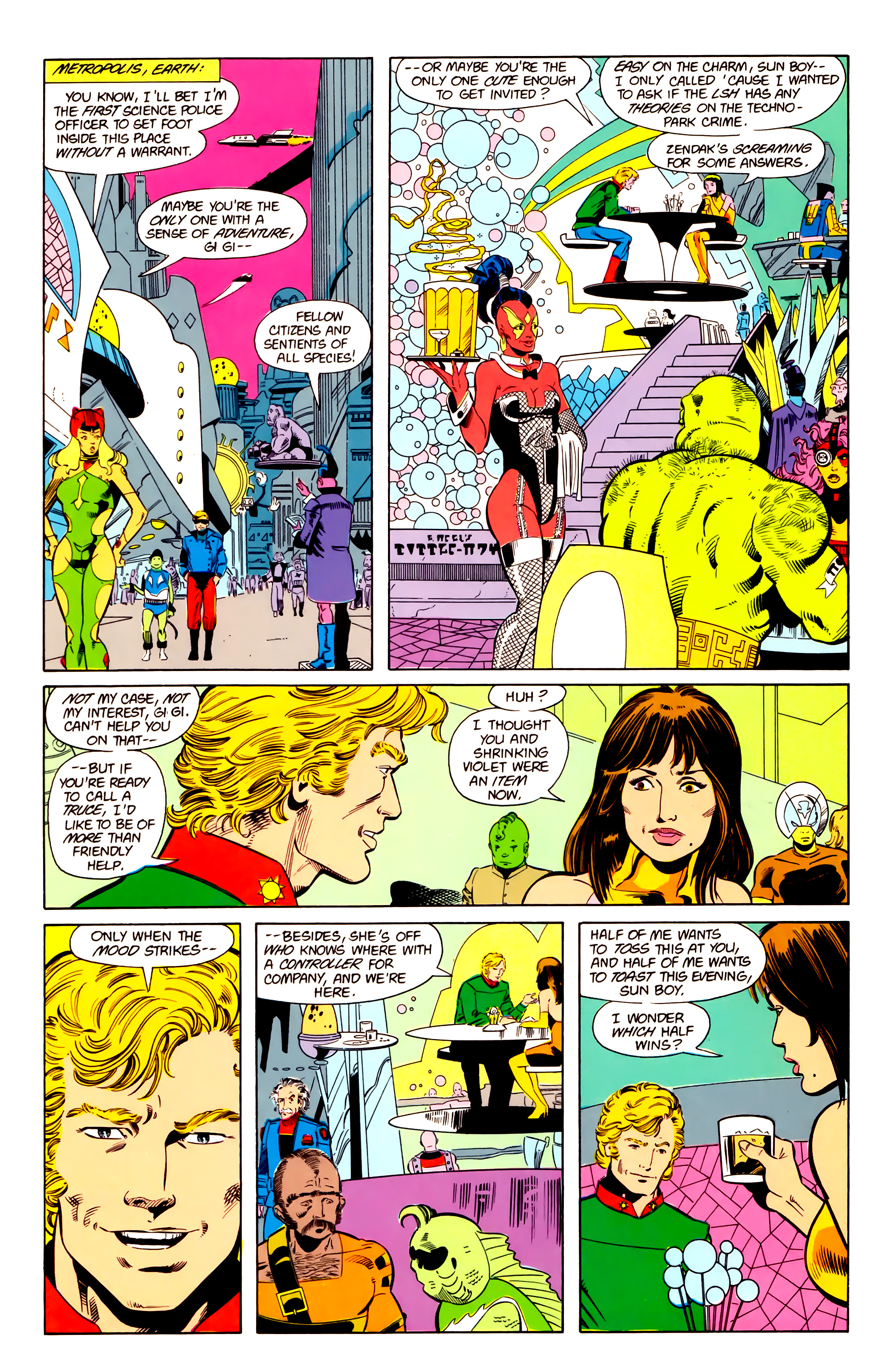 Legion of Super-Heroes (1984) 20 Page 6