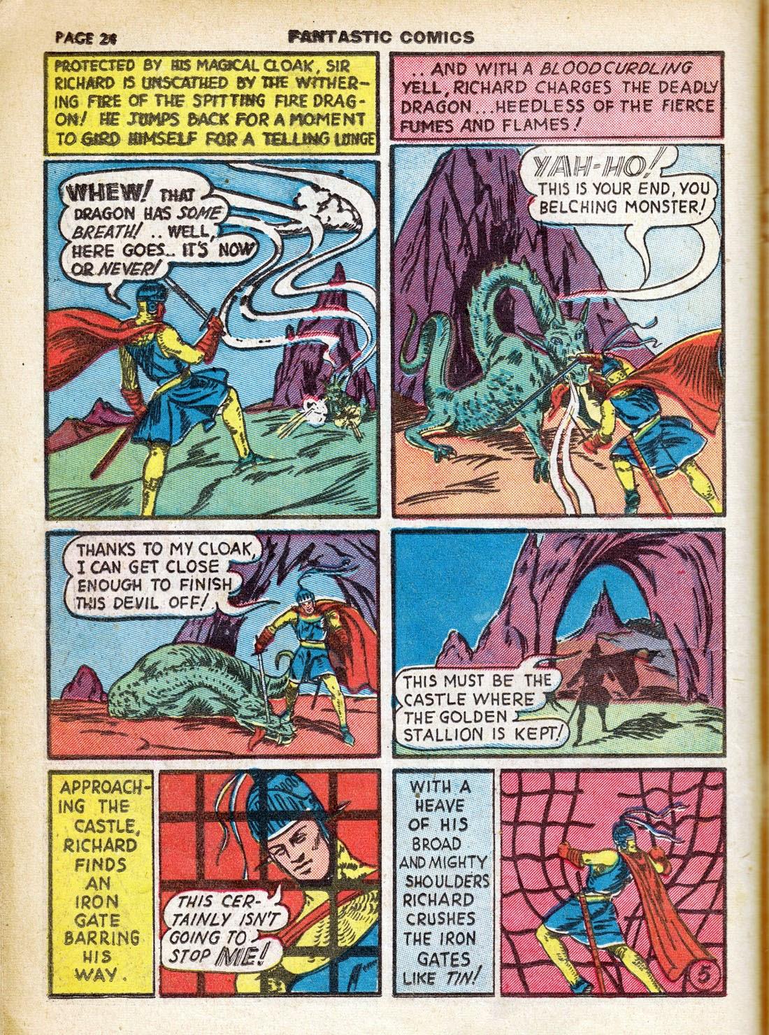Read online Fantastic Comics comic -  Issue #7 - 26
