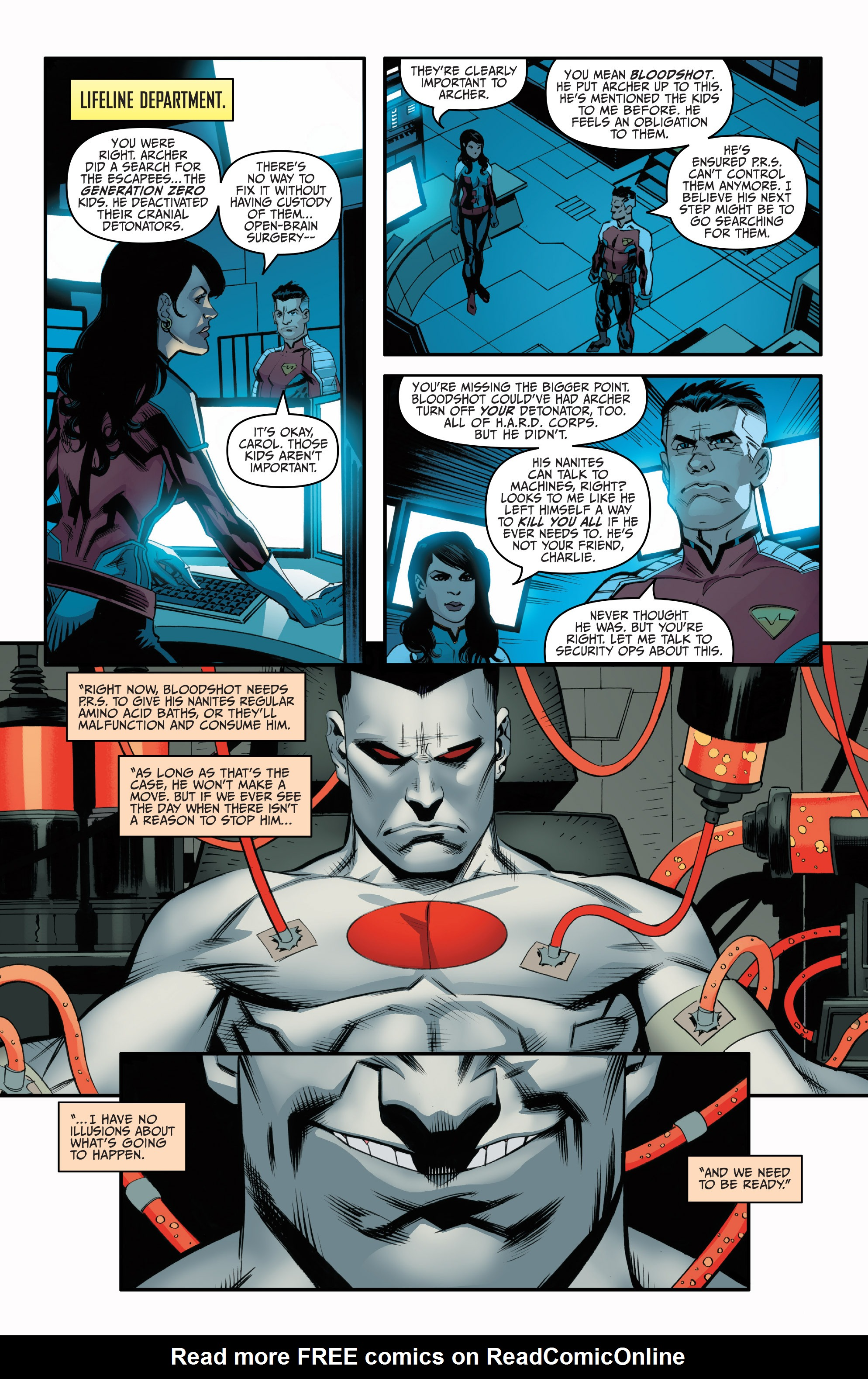 Read online Bloodshot and H.A.R.D.Corps comic -  Issue #21 - 22