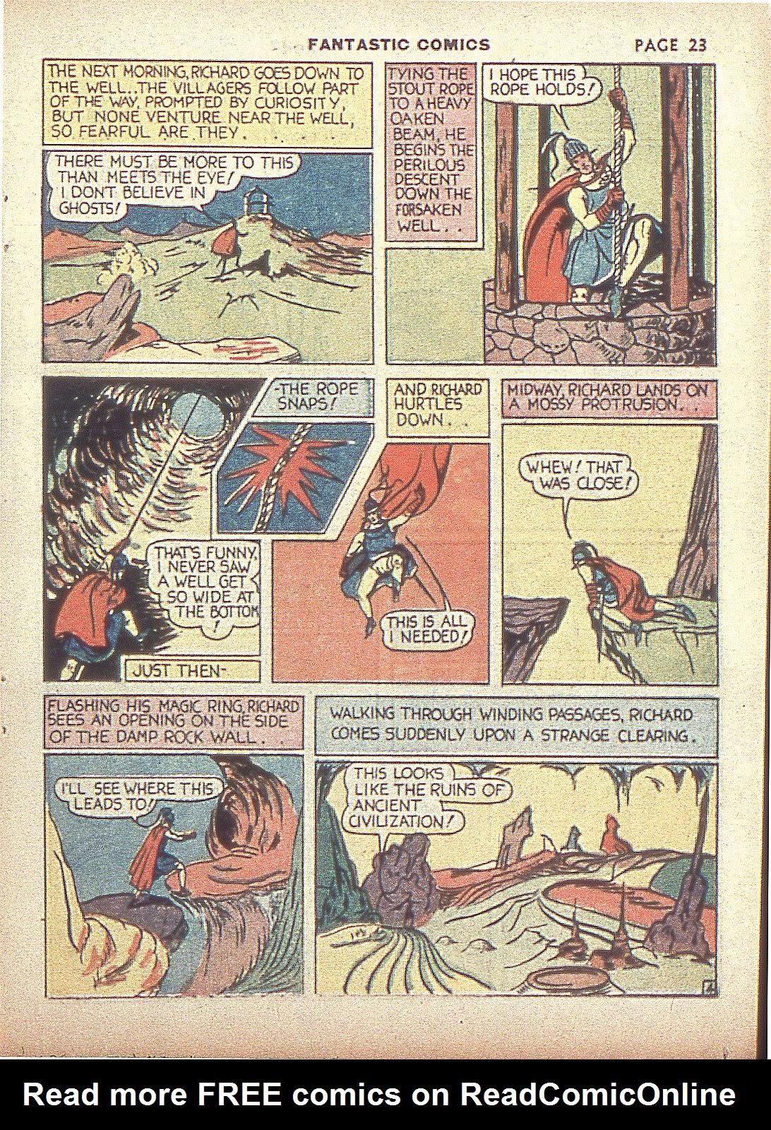 Read online Fantastic Comics comic -  Issue #4 - 25