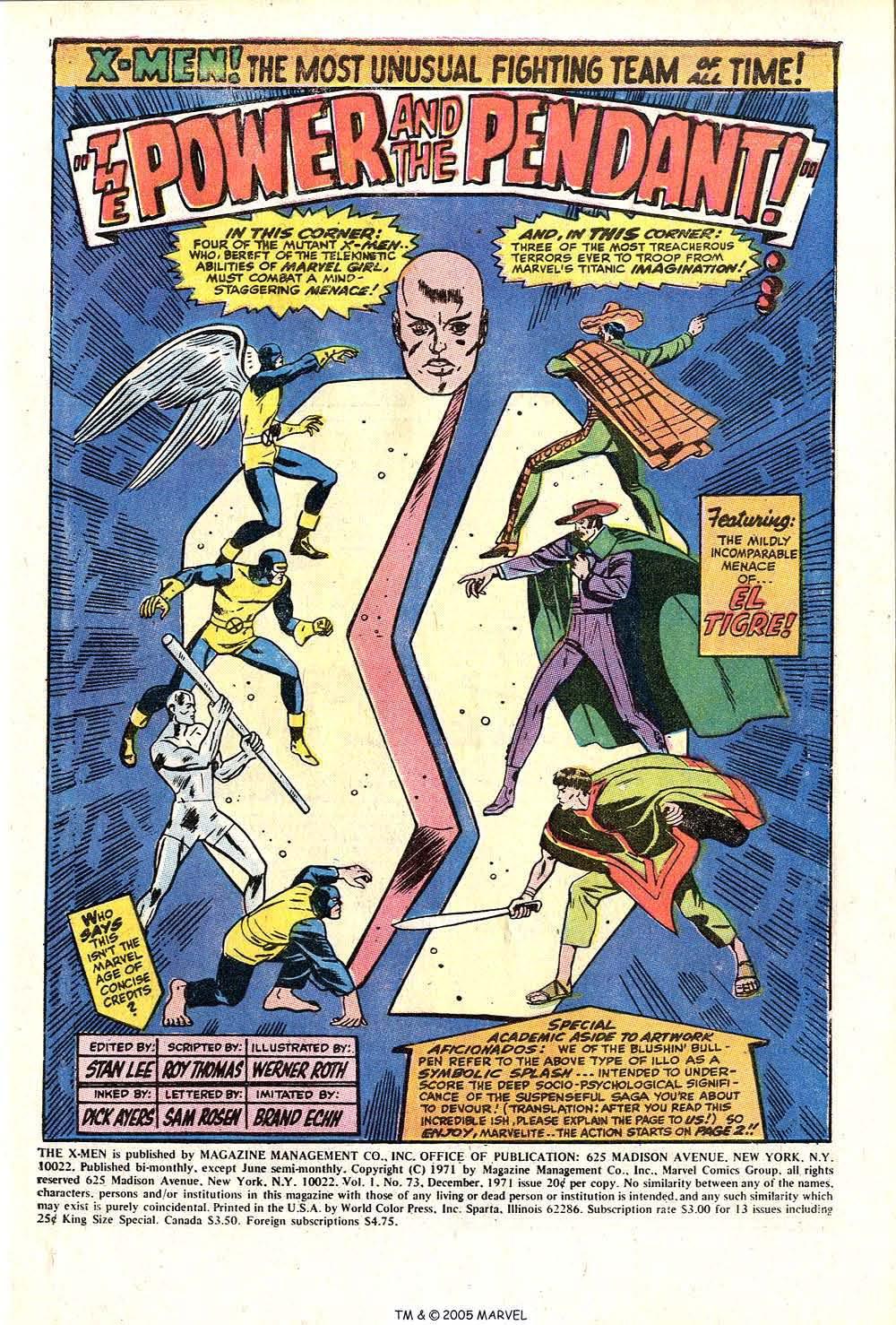 Read online Uncanny X-Men (1963) comic -  Issue #73 - 3