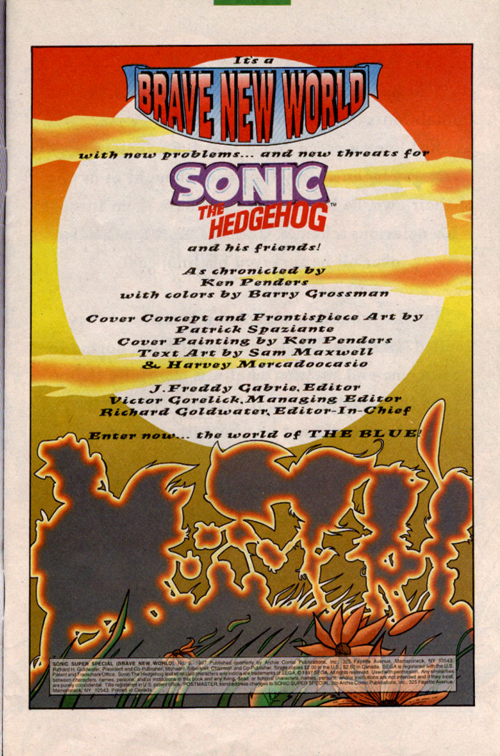 Read online Sonic Super Special comic -  Issue #2 - Brave new world - 2