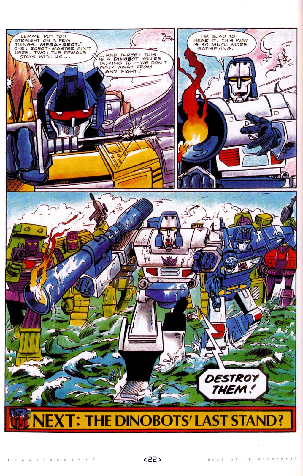 Read online The Transformers: Best of UK: Dinobots comic -  Issue #5 - 24