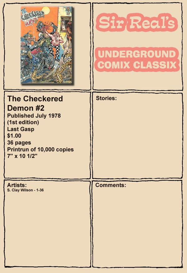 The Checkered Demon issue 2 - Page 1