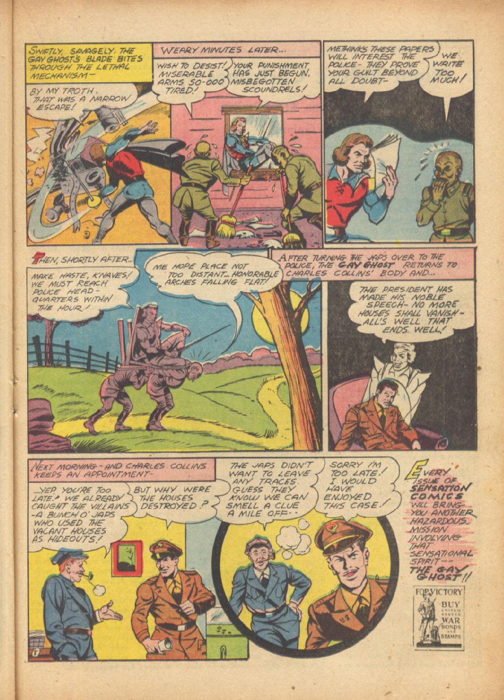 Read online Sensation (Mystery) Comics comic -  Issue #24 - 39