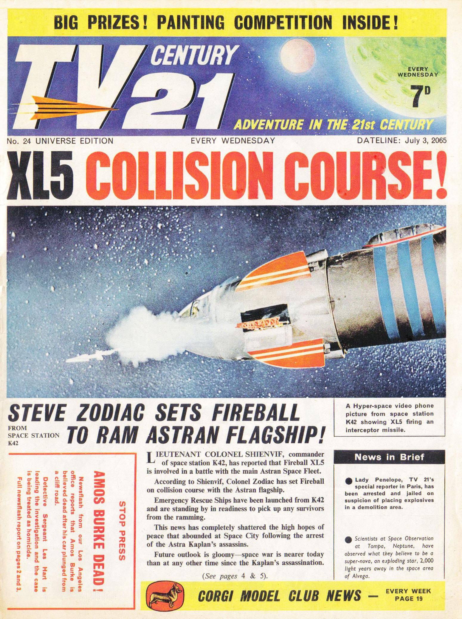 Read online TV Century 21 (TV 21) comic -  Issue #24 - 1