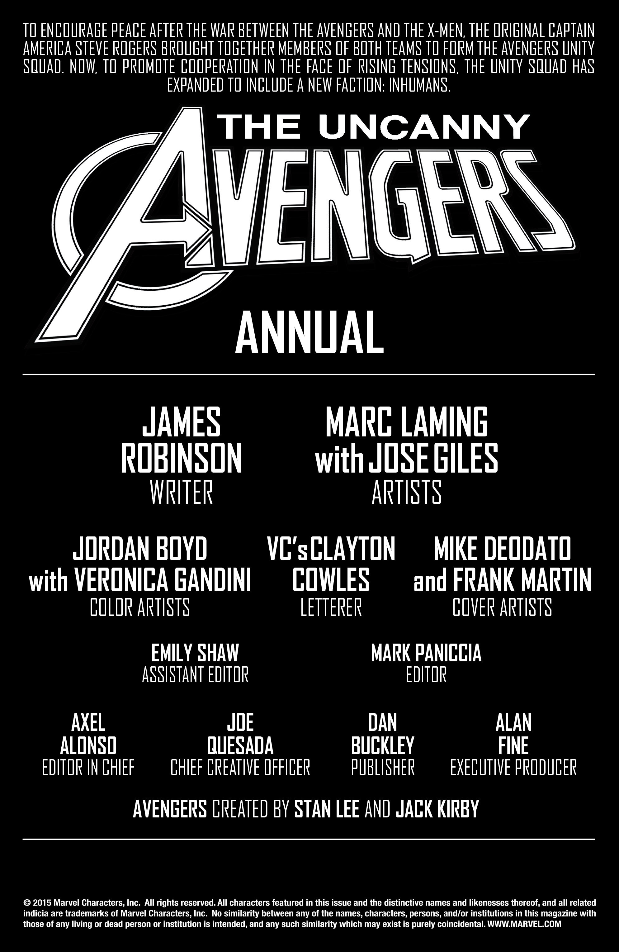 Read online Uncanny Avengers [II] comic -  Issue # _Annual 1 - 2
