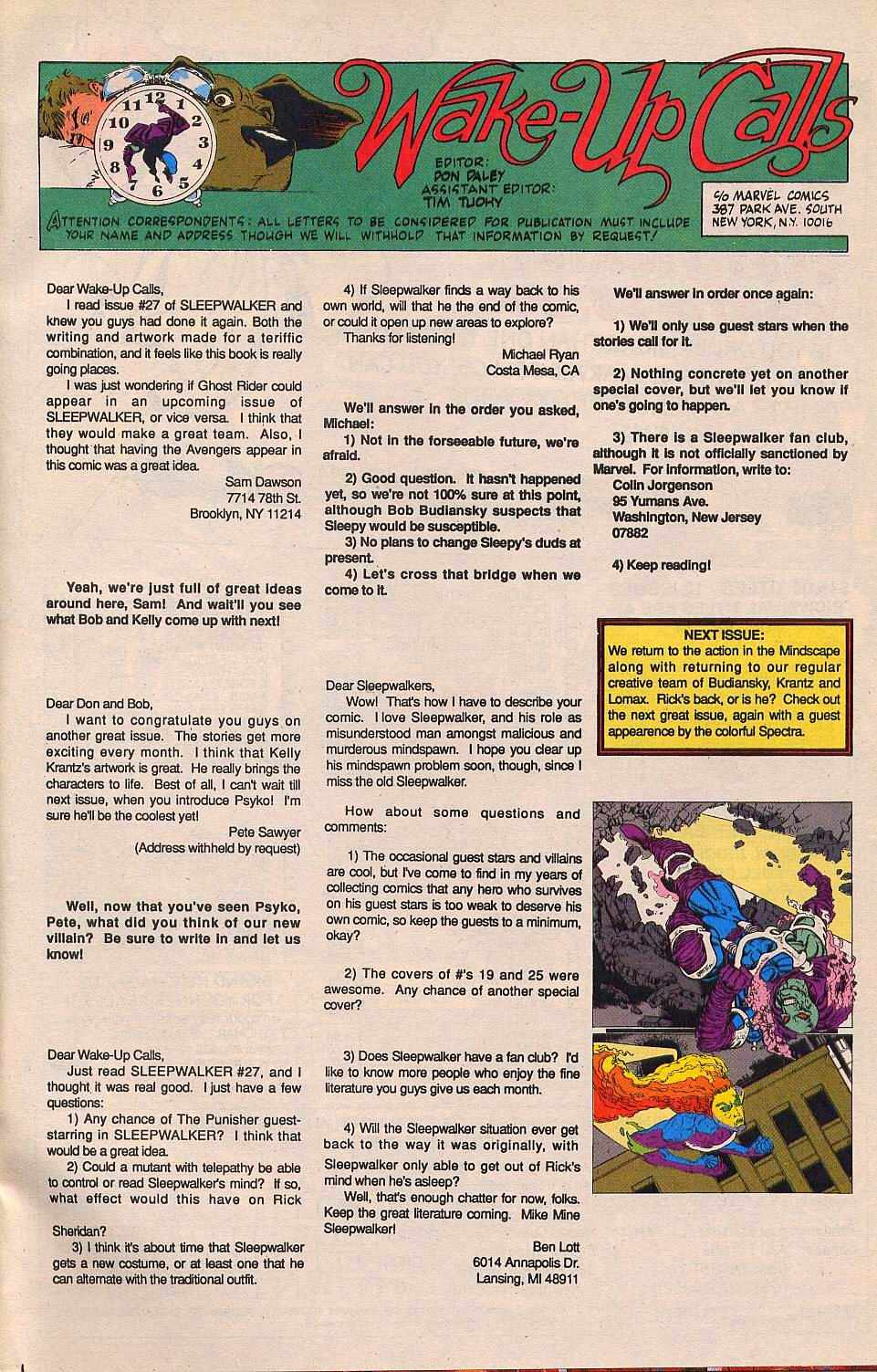 Read online Sleepwalker comic -  Issue #30 - 24