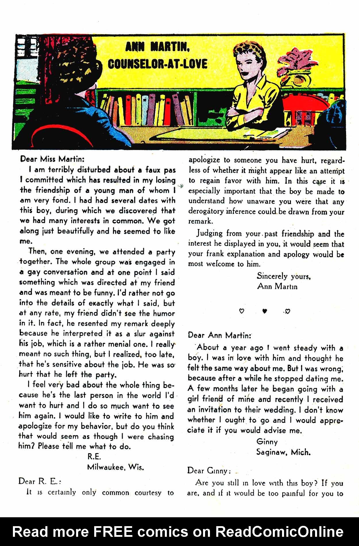 Read online Secret Hearts comic -  Issue #19 - 25