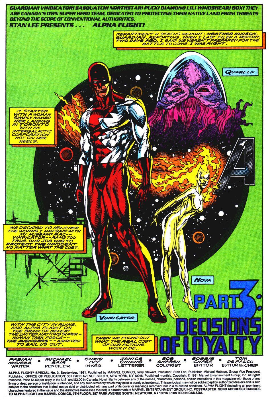 Read online Alpha Flight Special comic -  Issue #3 - 2