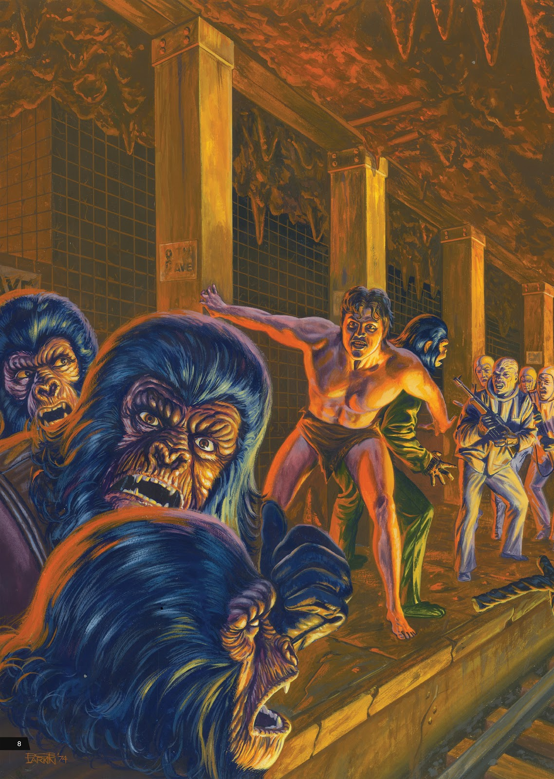 Read online Planet of the Apes Artist Tribute comic -  Issue # TPB - 8