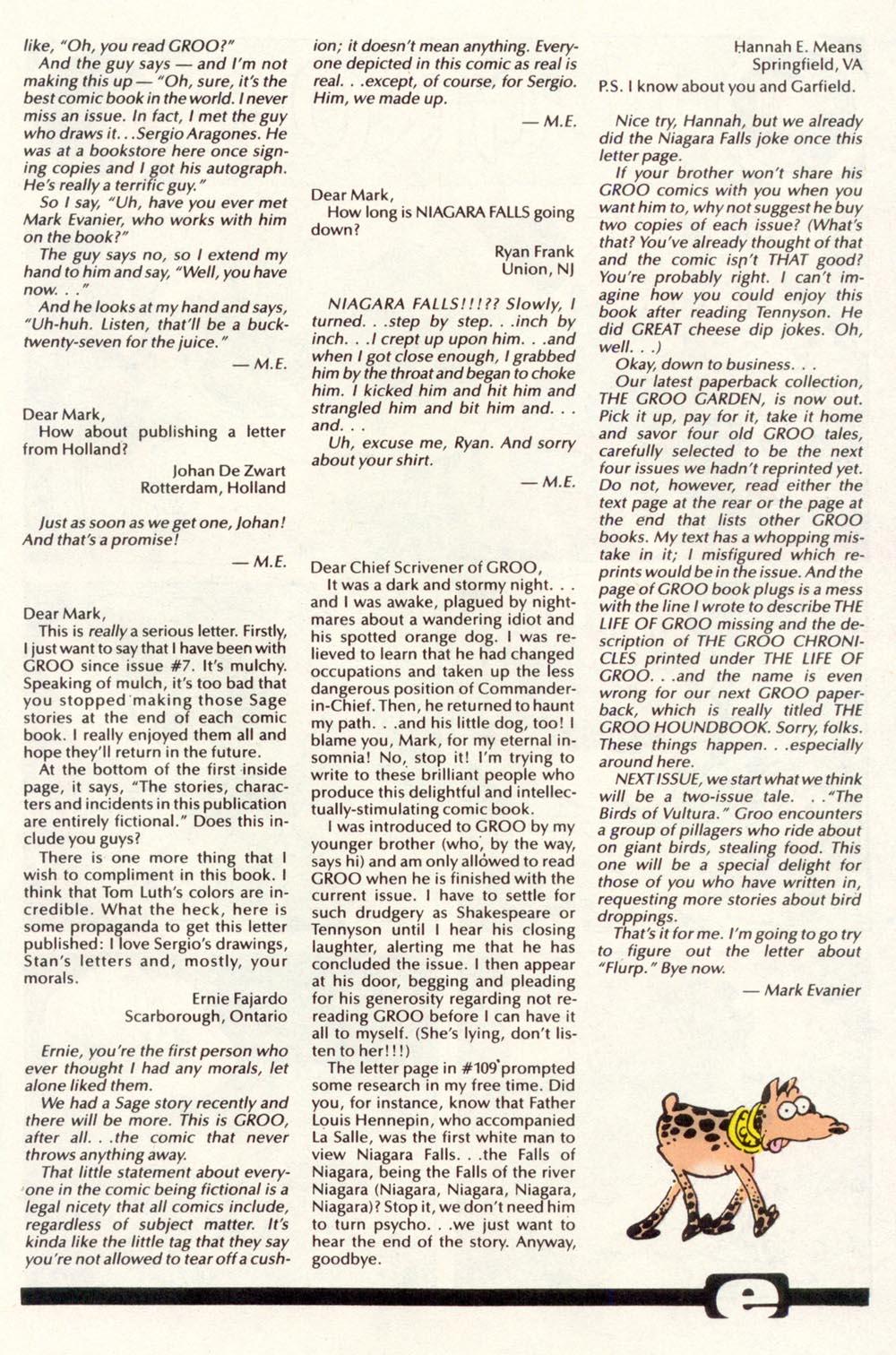 Read online Sergio Aragonés Groo the Wanderer comic -  Issue #113 - 31