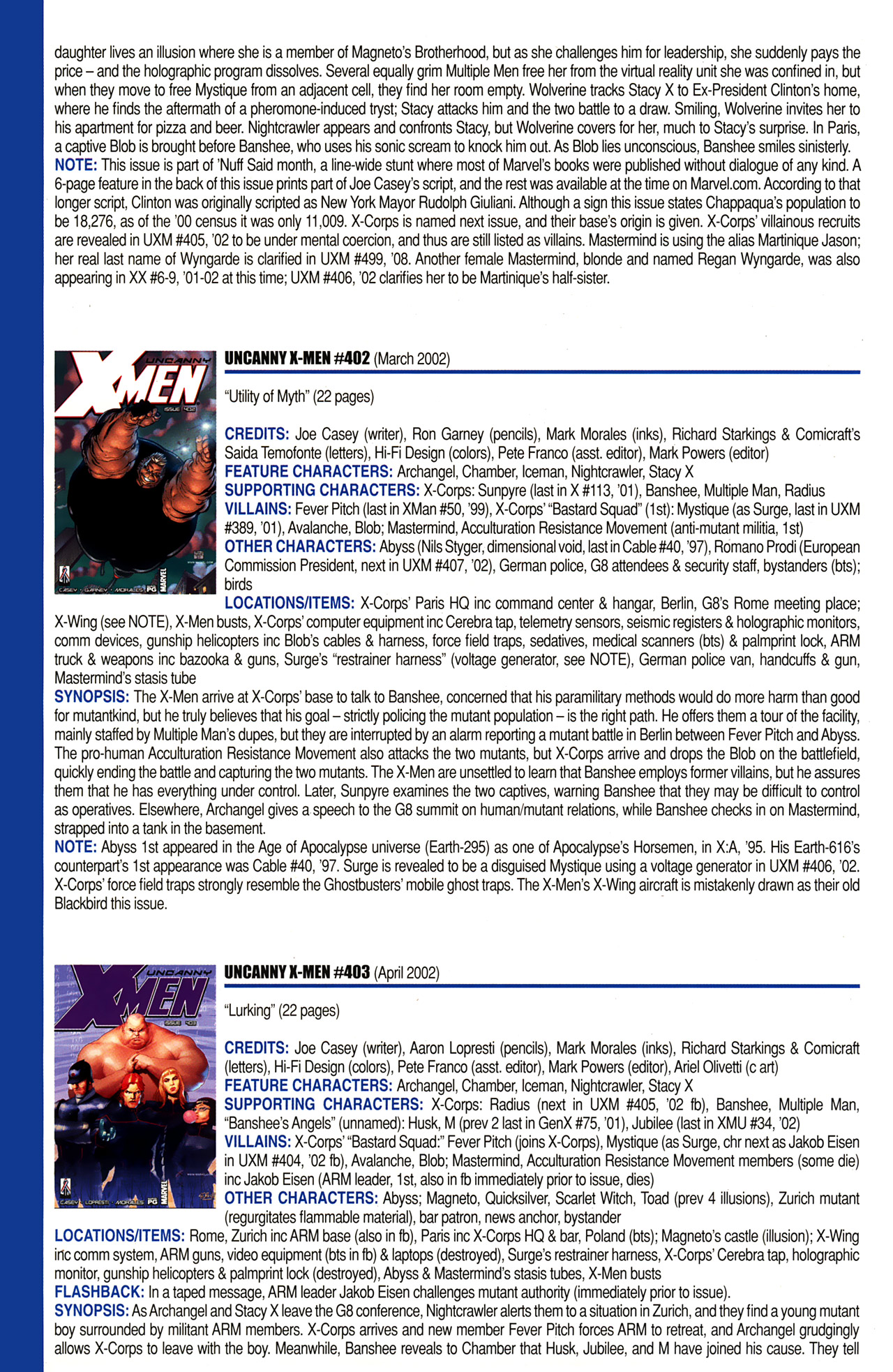 Read online Official Index to the Marvel Universe comic -  Issue #10 - 62