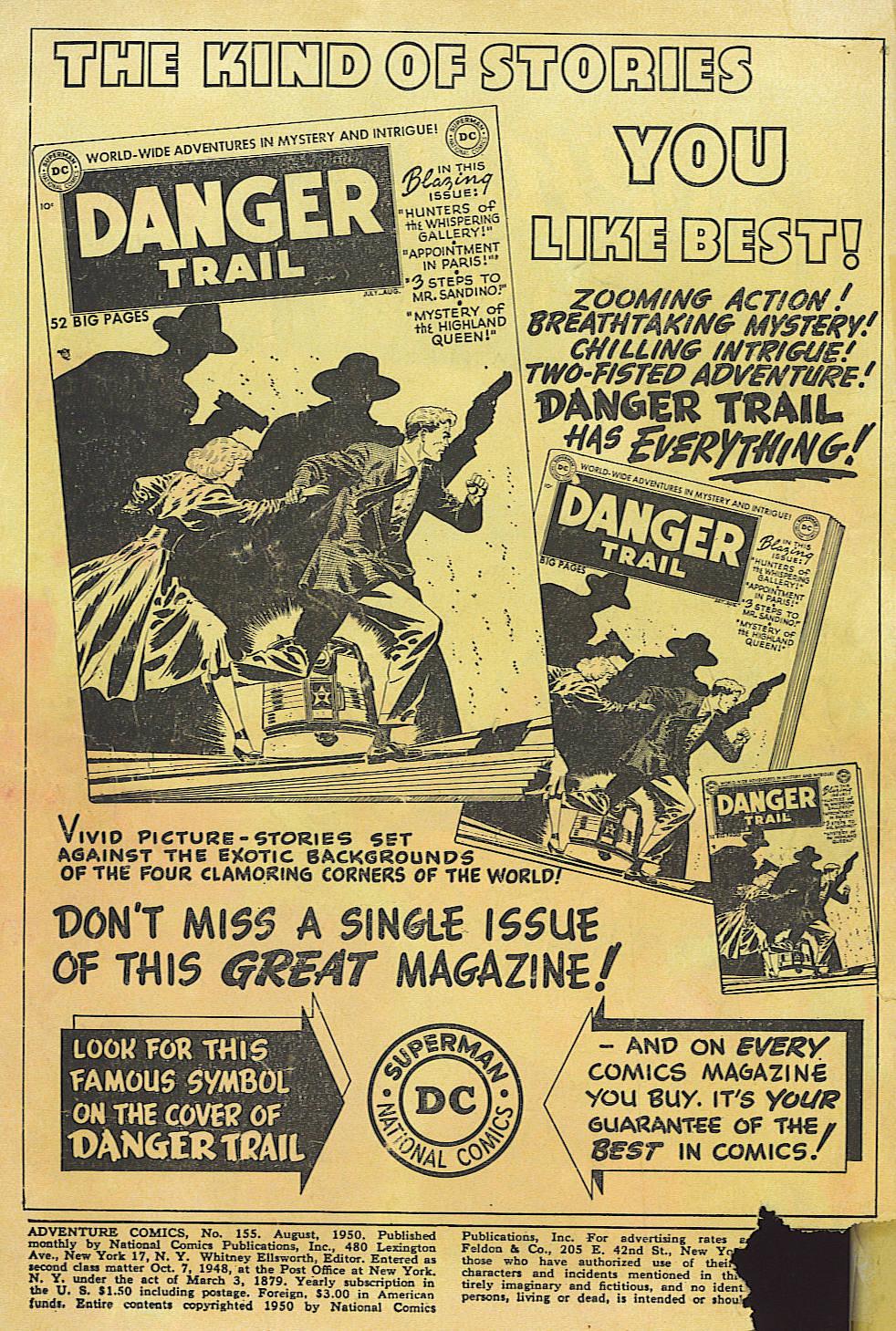 Read online Adventure Comics (1938) comic -  Issue #155 - 2