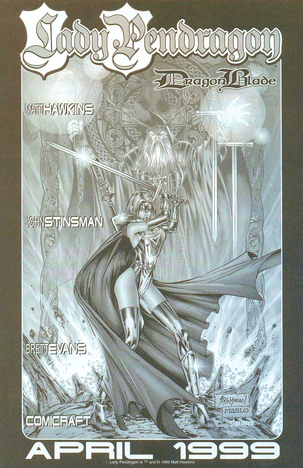 Read online Lady Pendragon / More Than Mortal comic -  Issue # _Preview - 18