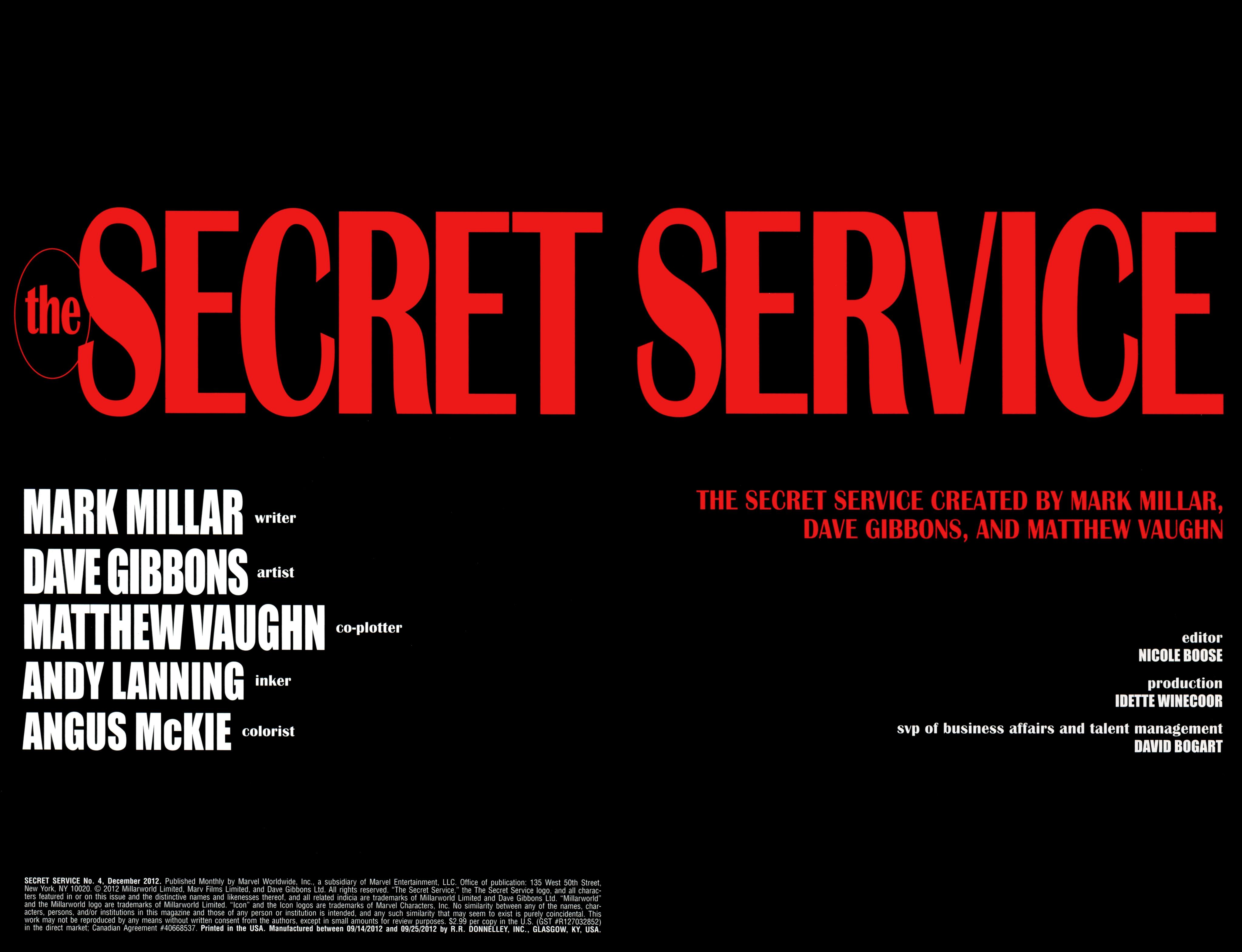 Read online Secret Service comic -  Issue #4 - 2