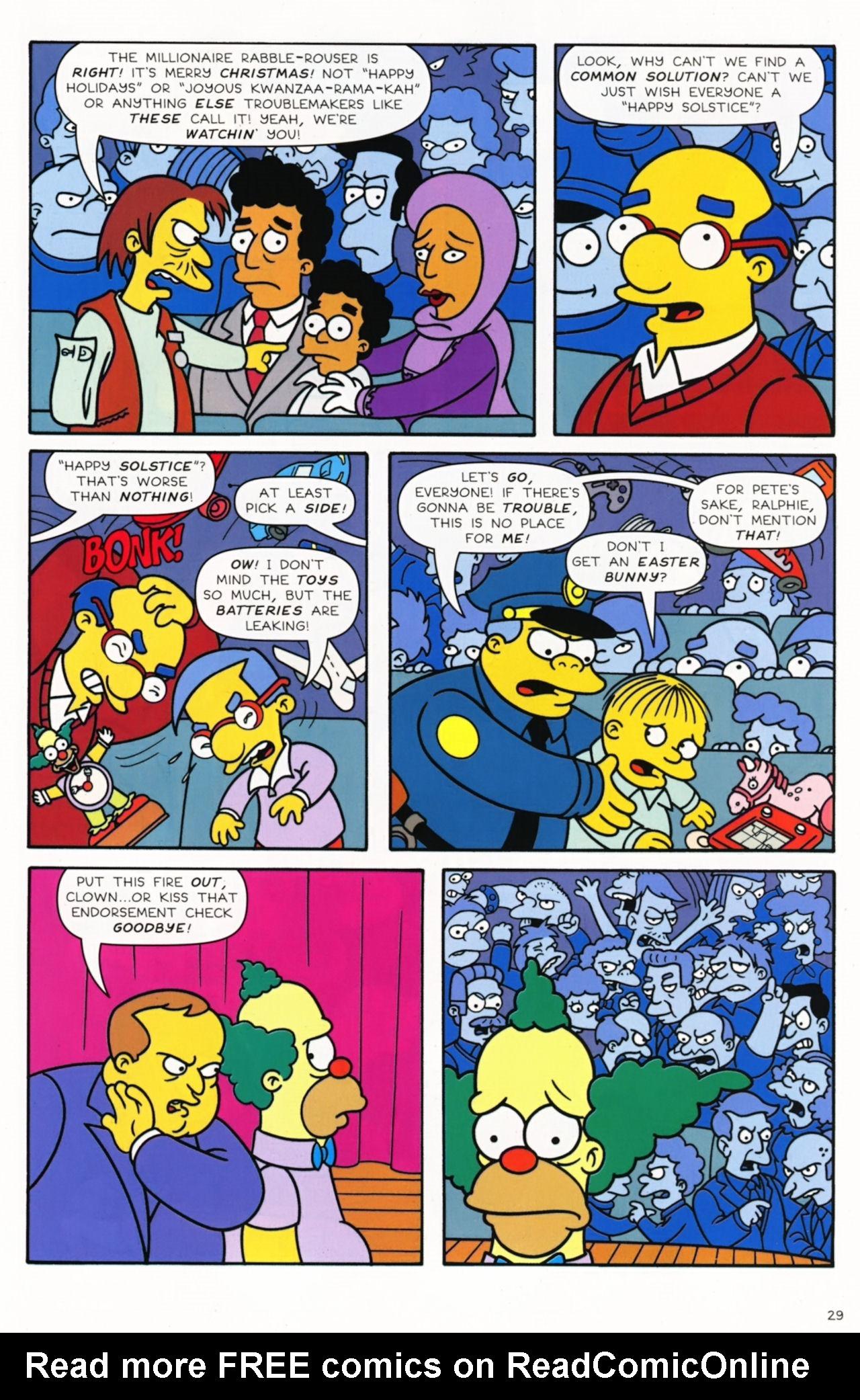 Read online Simpsons Comics comic -  Issue #172 - 31
