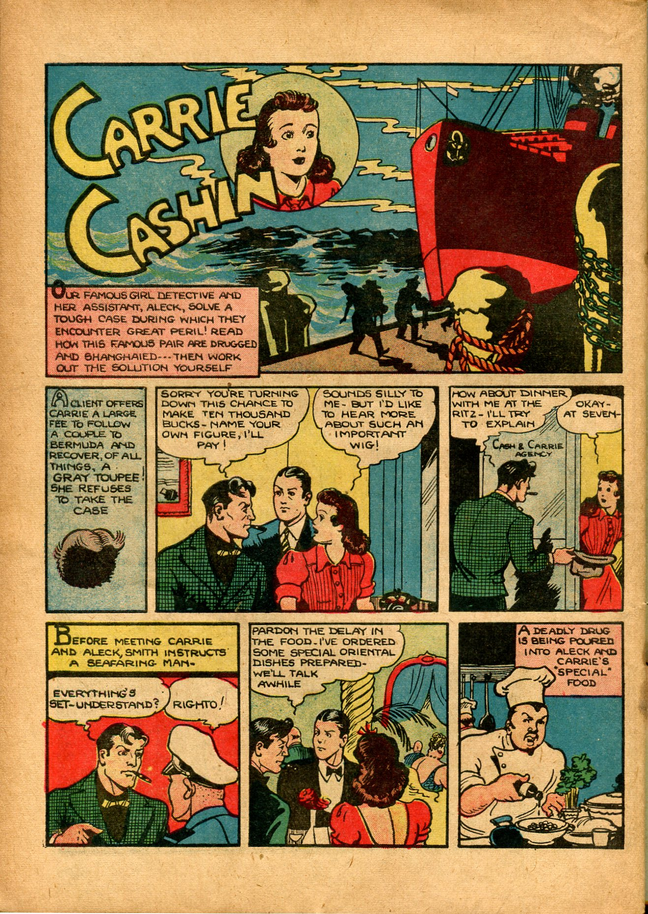 Read online Shadow Comics comic -  Issue #8 - 56
