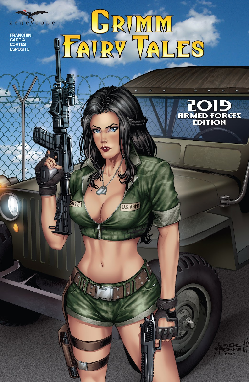 Read online Grimm Fairy Tales: 2019 Armed Forces Edition comic -  Issue # Full - 1