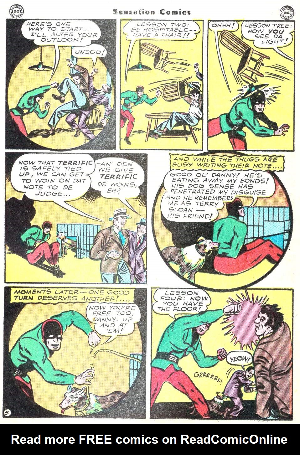 Read online Sensation (Mystery) Comics comic -  Issue #50 - 29