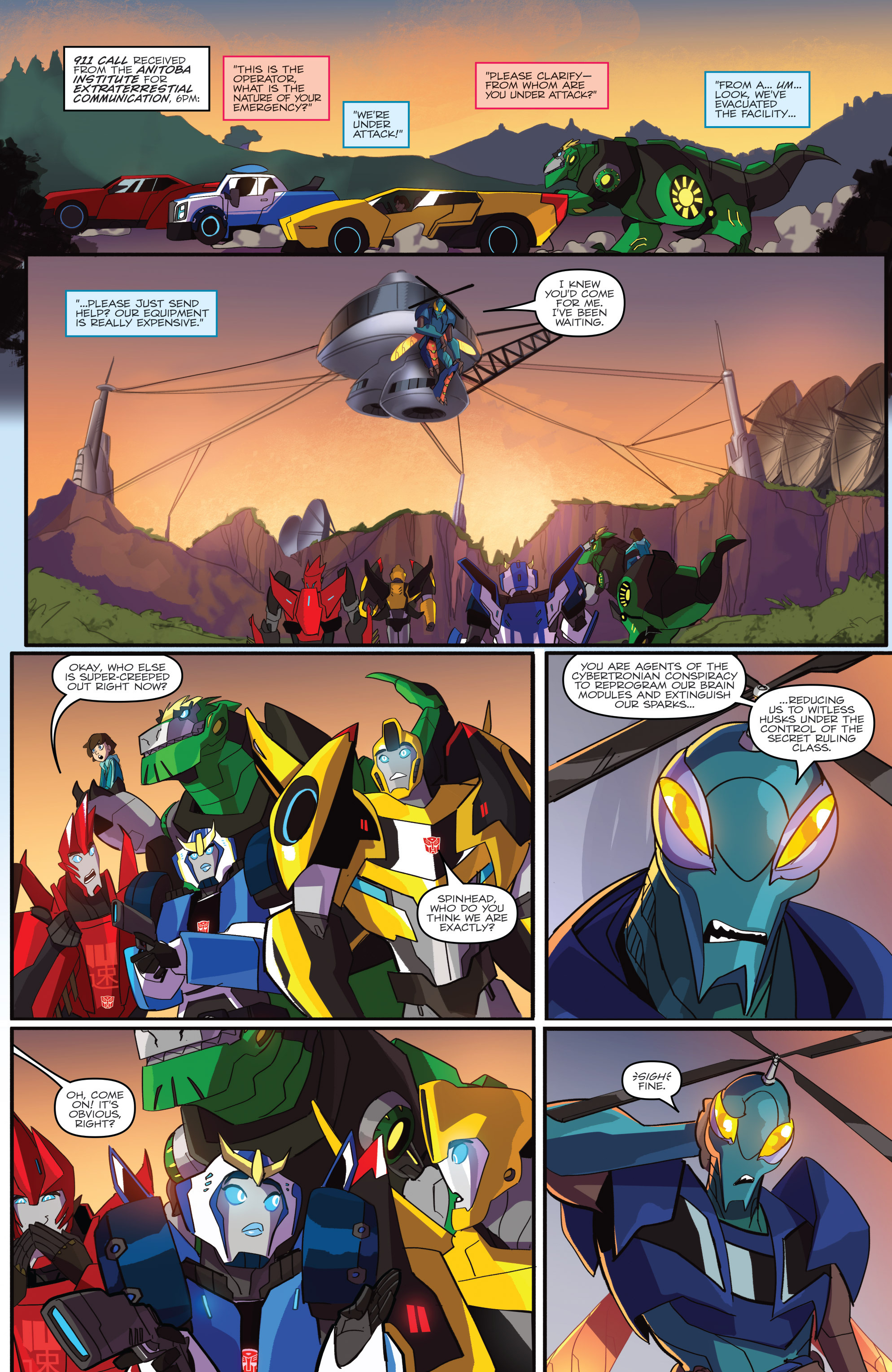Read online Transformers: Robots In Disguise (2015) comic -  Issue #1 - 15