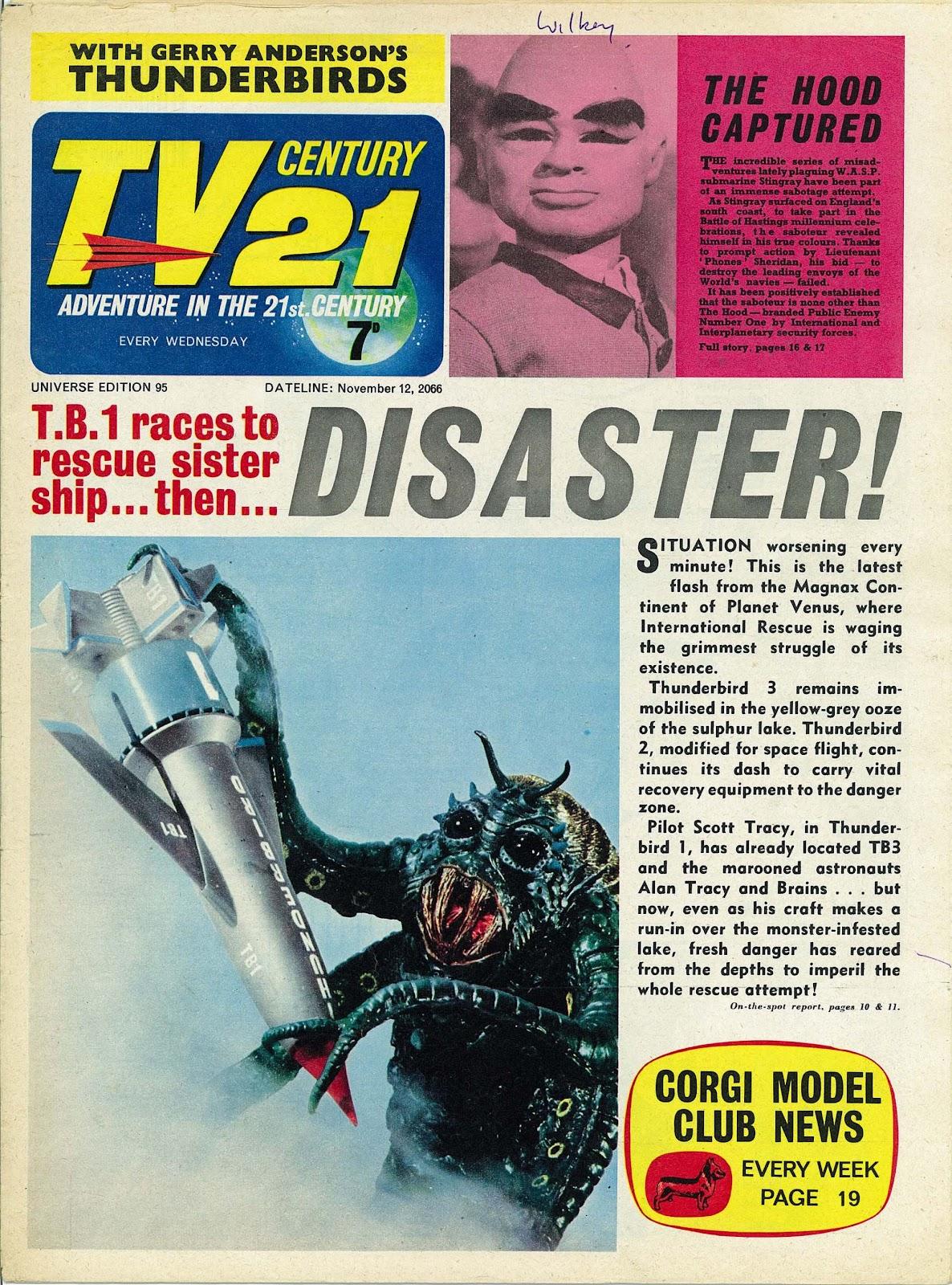 TV Century 21 (TV 21) issue 95 - Page 1