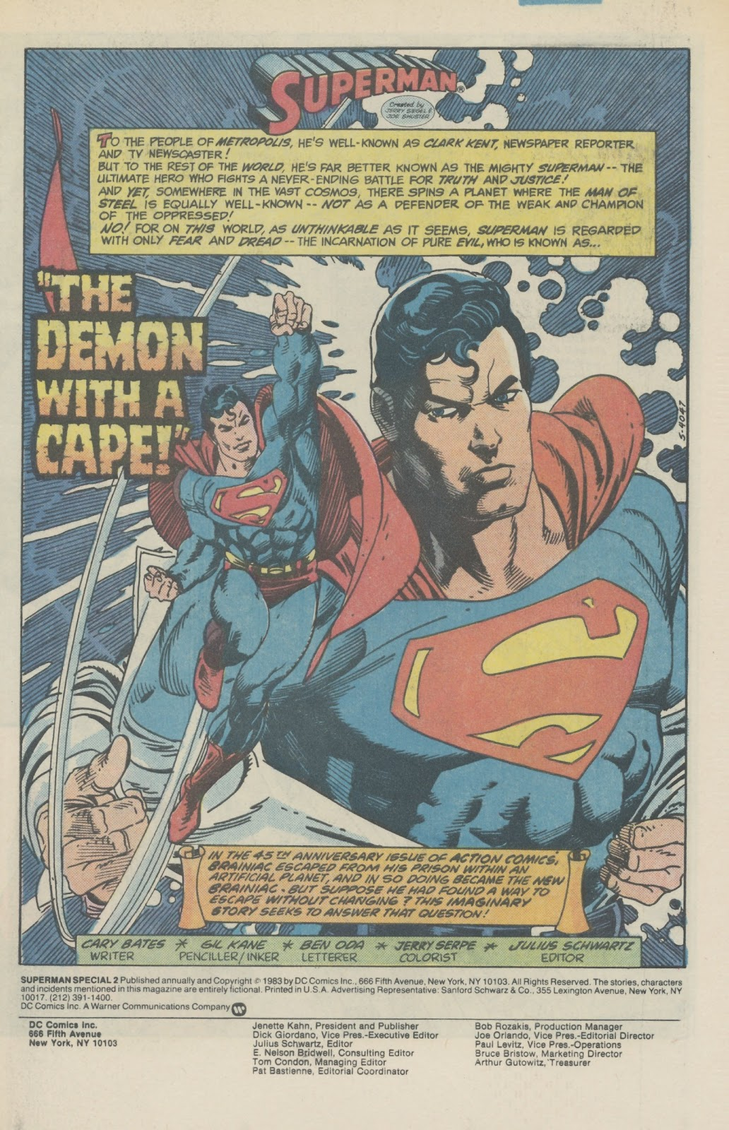 Read online Superman Special (1983) comic -  Issue #2 - 3