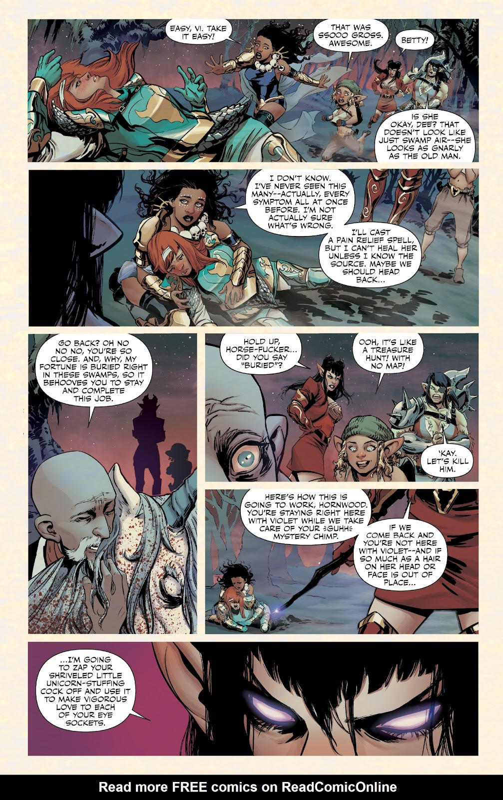 Read online Rat Queens Special: Swamp Romp comic -  Issue # Full - 9