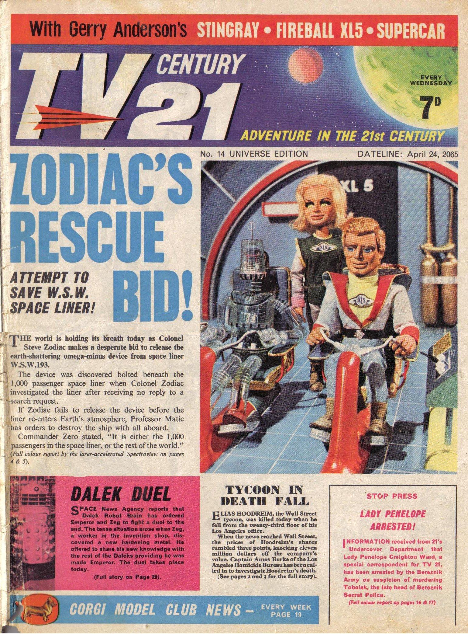 Read online TV Century 21 (TV 21) comic -  Issue #14 - 1