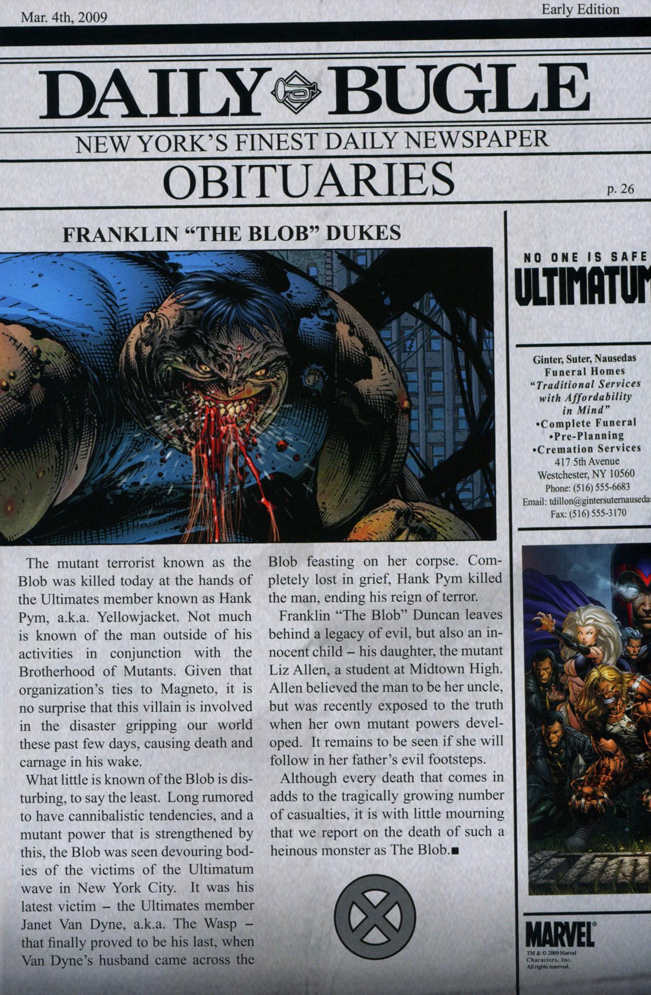 Read online Ultimatum: X-Men Requiem comic -  Issue # Full - 33
