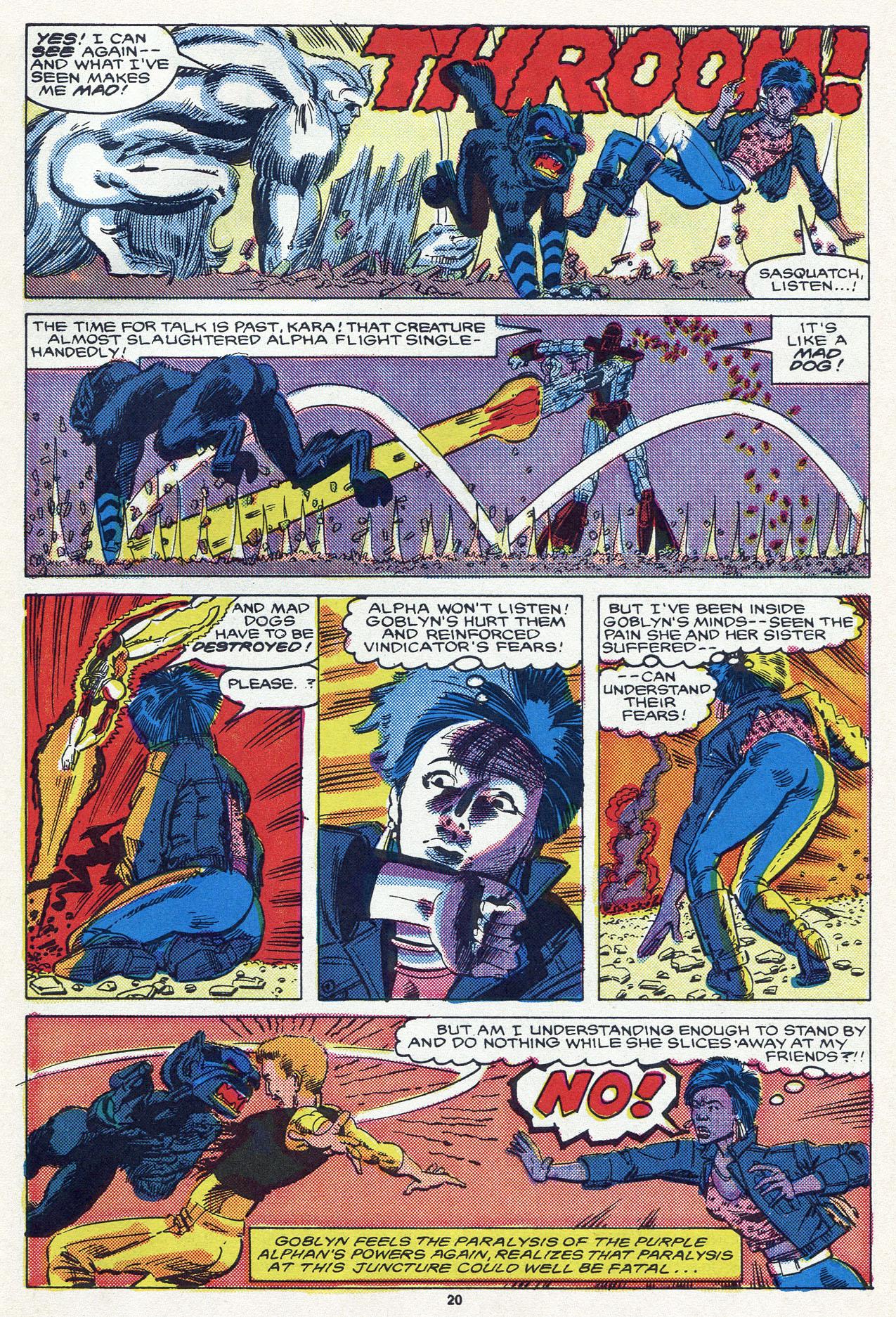 Read online Alpha Flight (1983) comic -  Issue #54 - 28