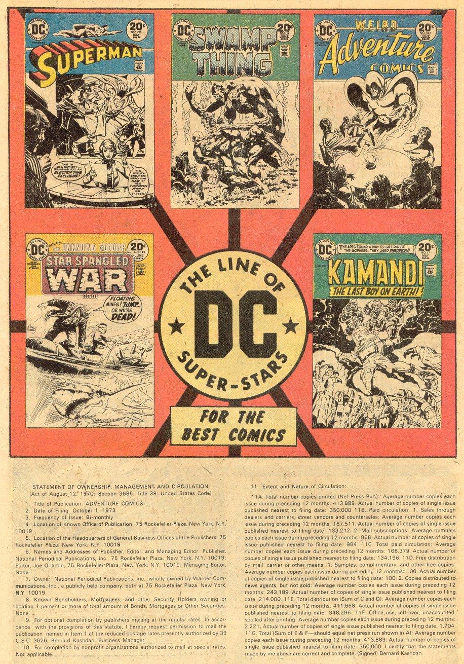 Read online Adventure Comics (1938) comic -  Issue #433 - 22