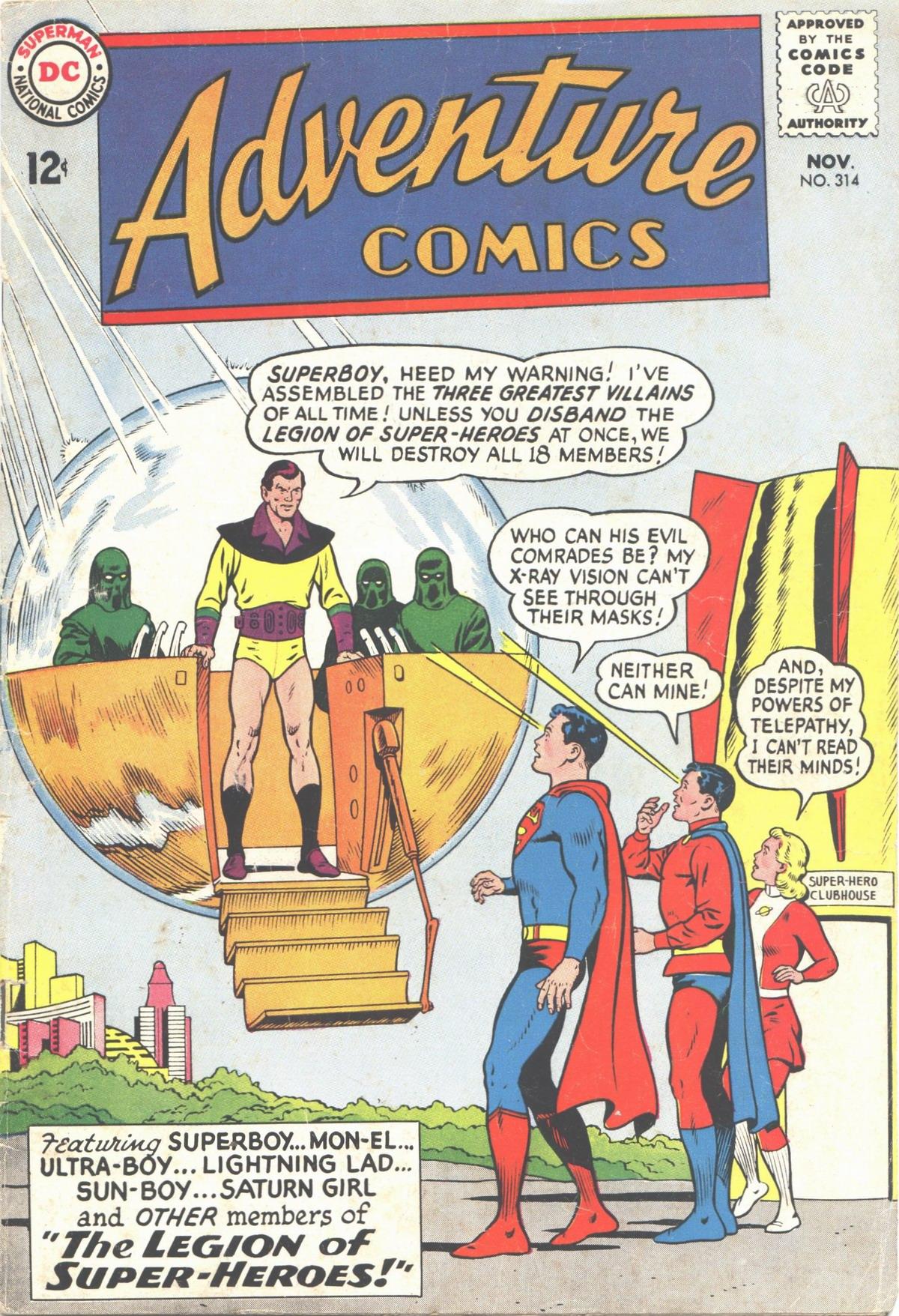 Read online Adventure Comics (1938) comic -  Issue #314 - 1