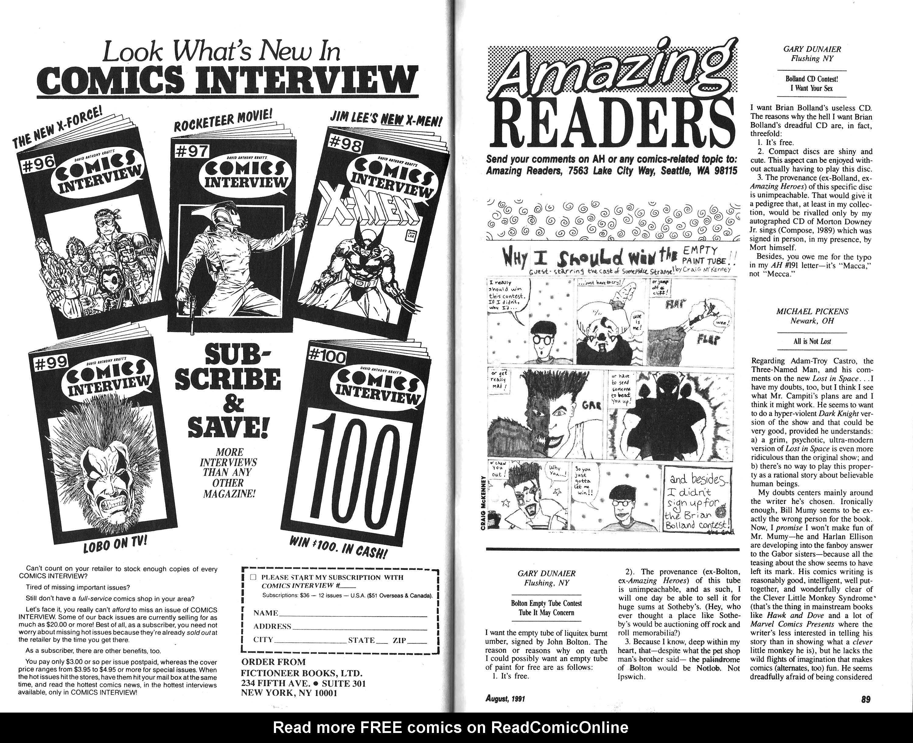 Read online Amazing Heroes comic -  Issue #193 - 45