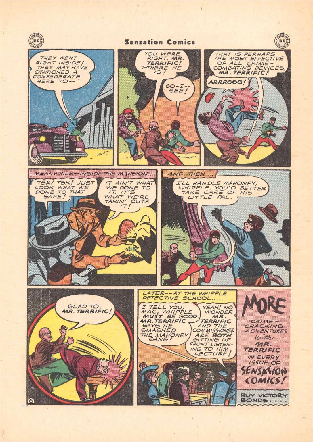 Read online Sensation (Mystery) Comics comic -  Issue #55 - 40