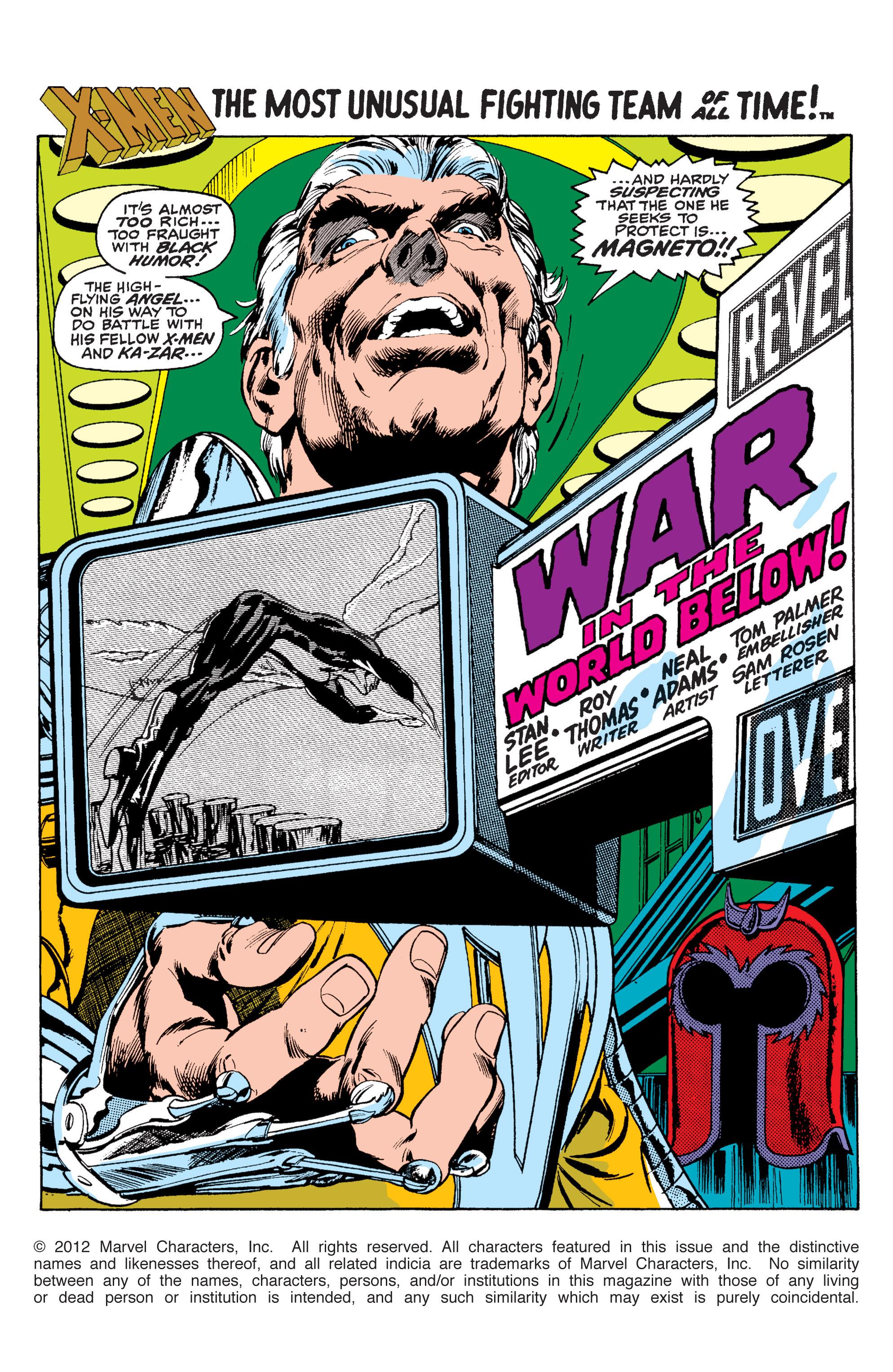 Read online Uncanny X-Men (1963) comic -  Issue #63 - 2